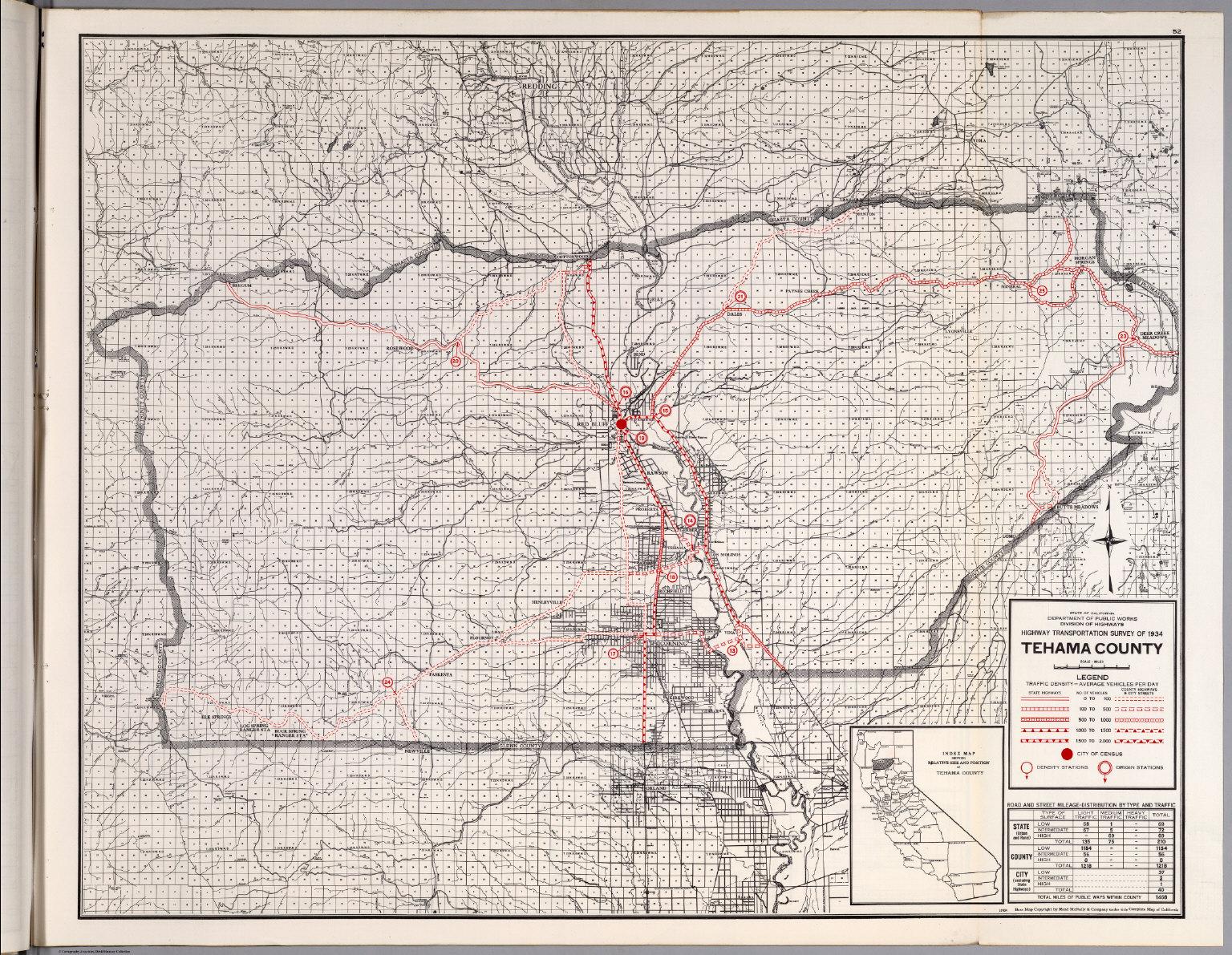 Tehama County California Historic Map Www Topsimages Com