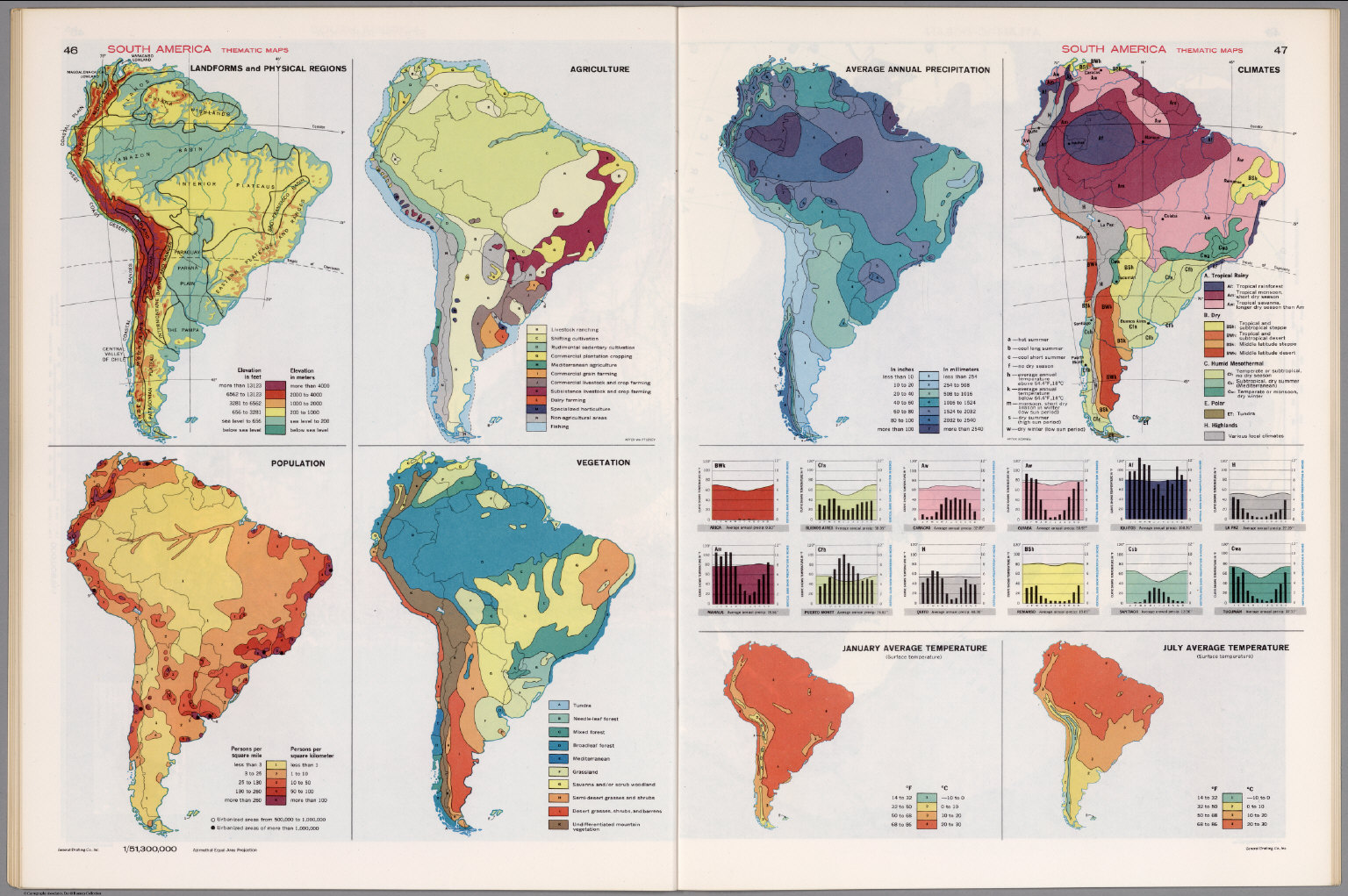 South America Thematic Maps David Rumsey Historical Map Collection