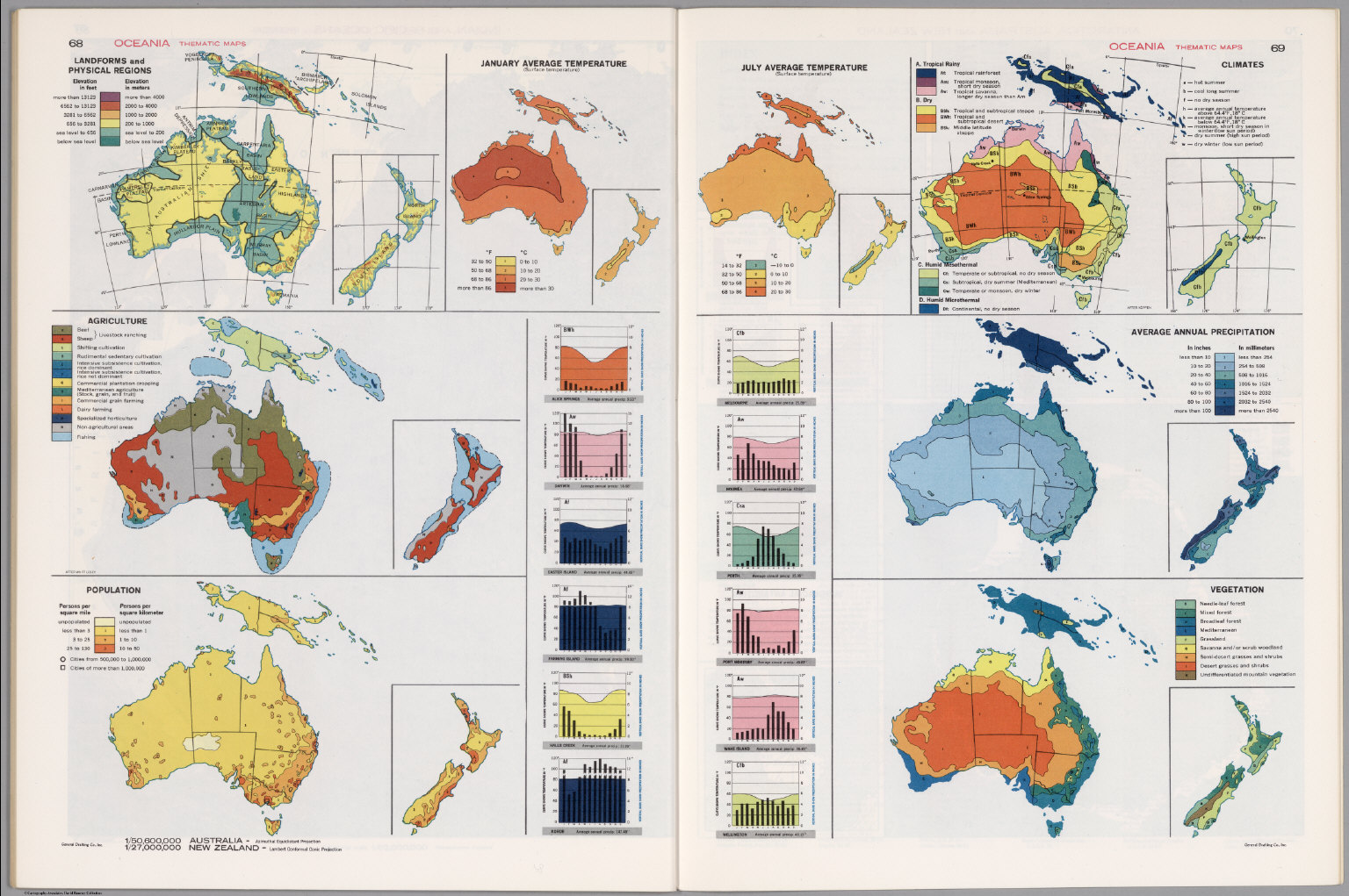 Oceania Thematic Maps. - David Rumsey Historical Map Collection