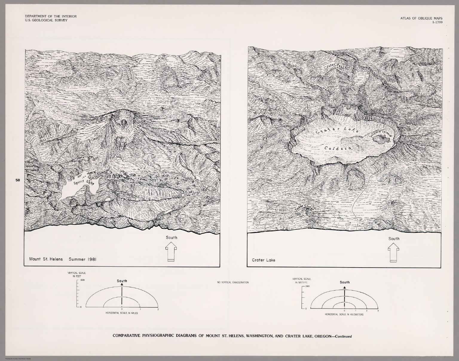 Physiographic Diagrams Of Mount St Helens Washington And Crater