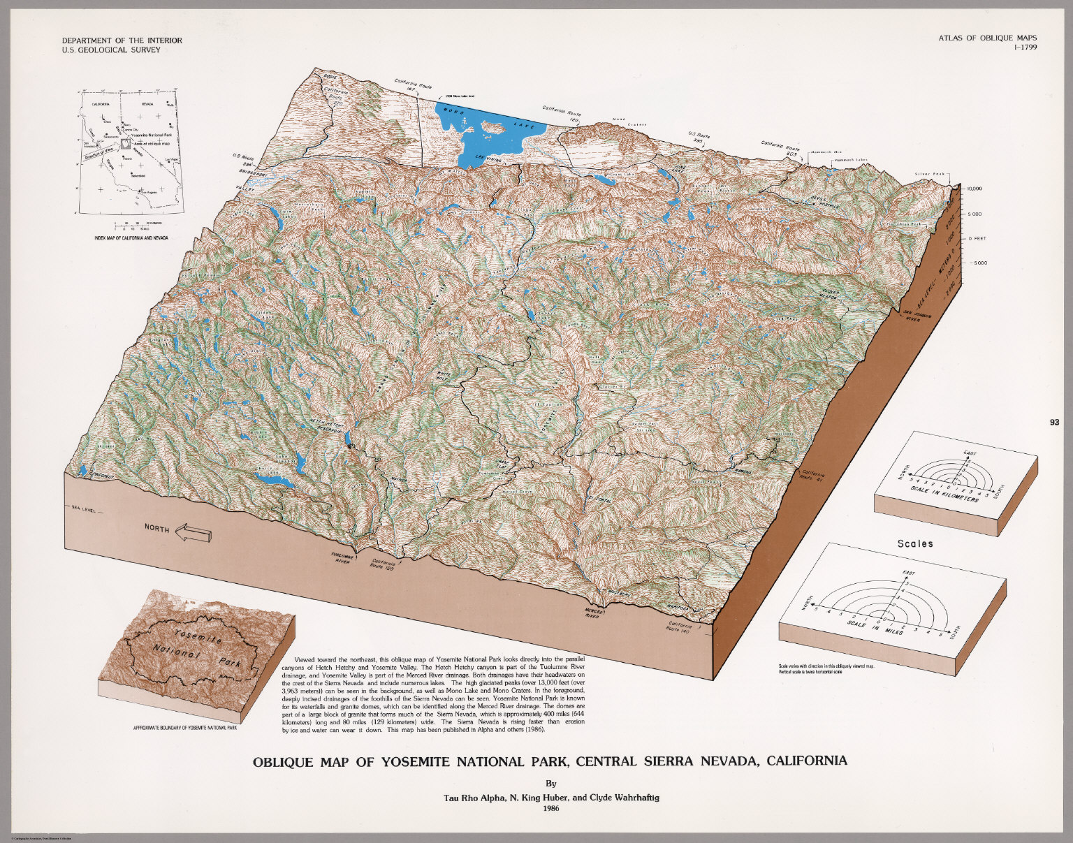 Oblique Map of Yosemite National Park, Central Sierra Nevada ... on yosemite valley, las vegas map, yosemite weather, california map, death valley map, yosemite meadows, yosemite lost brother, lake tahoe map, yellowstone map, yosemite screenshots, yosemite wallpaper, yosemite animals, yosemite fire, yosemite waterfalls, yosemite camping, yosemite wildlife, grand canyon map, mariposa grove map, gold rush country map,