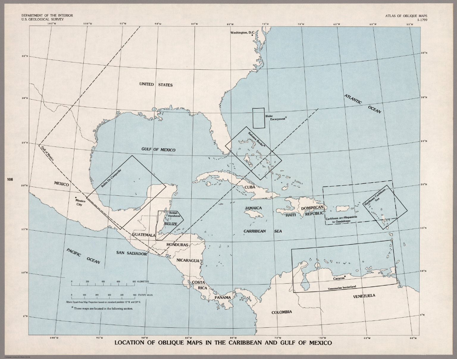 Index Map Location of Oblique Maps in the Caribbean and the Gulf of