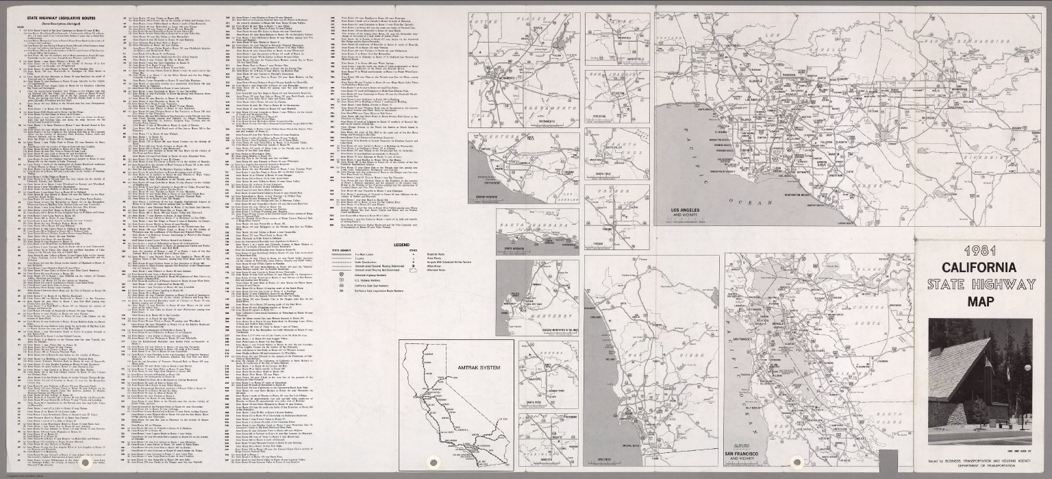 (Verso) State Highway Map, 1981.