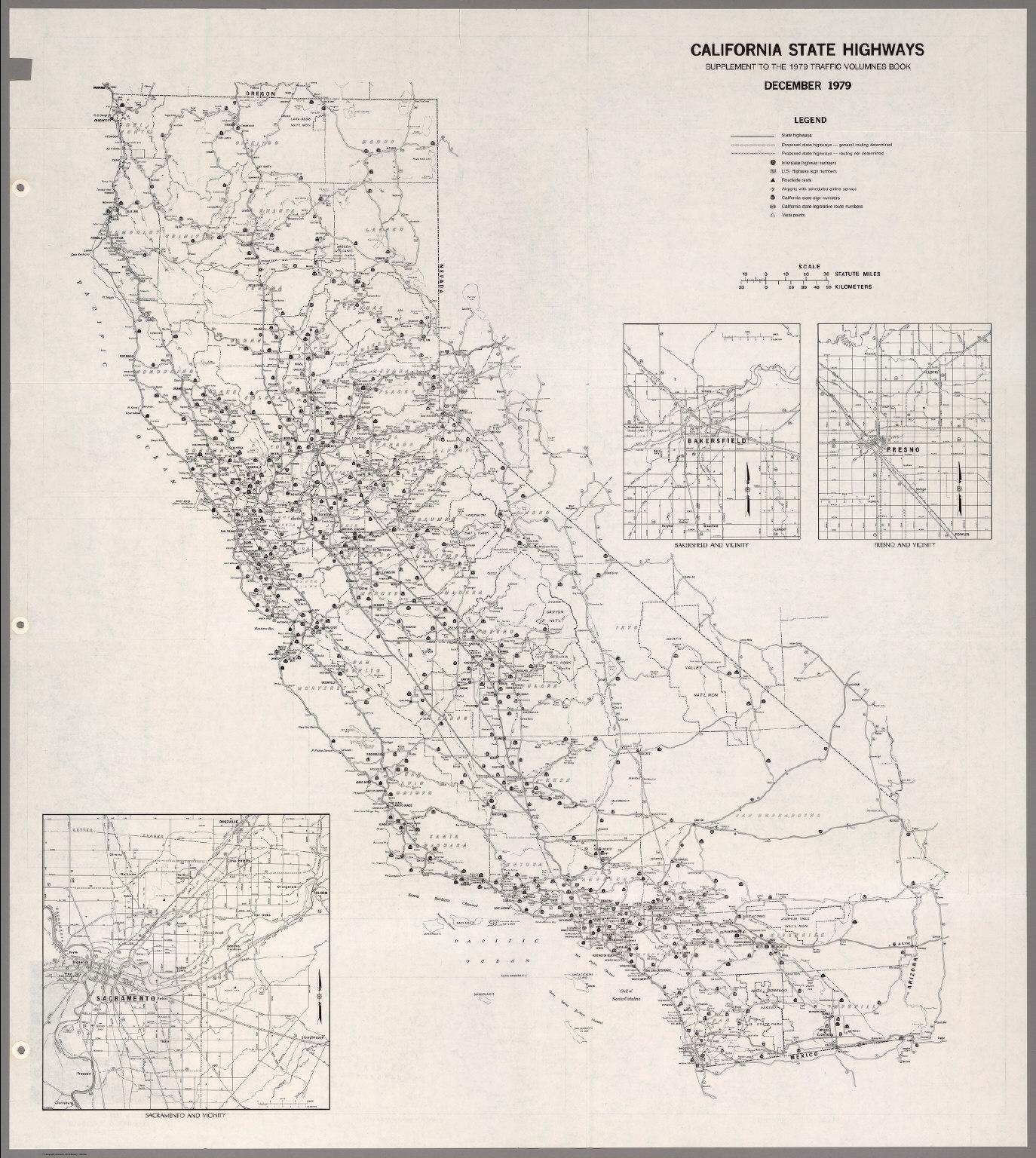California State Highways, December 1979.