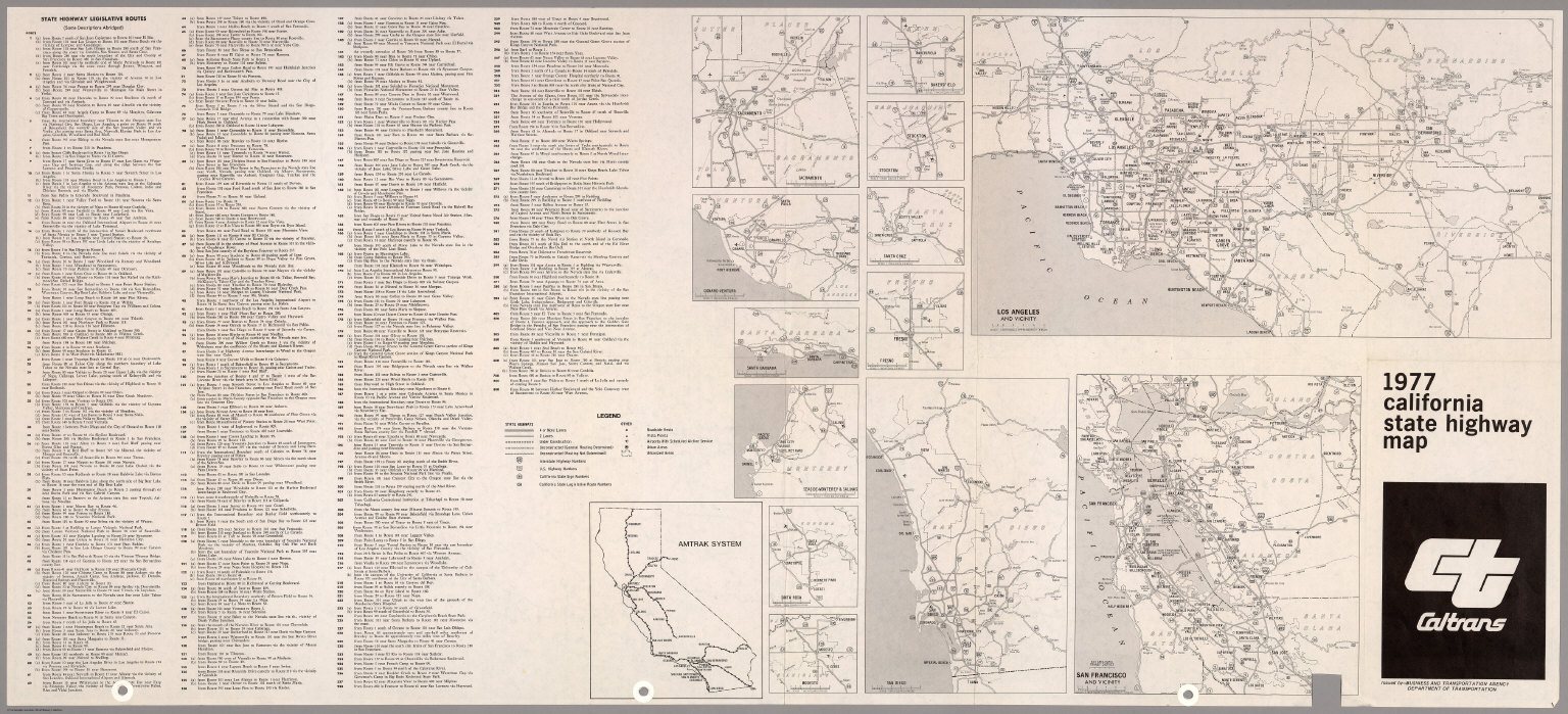 (Verso) State Highway Map, 1977.