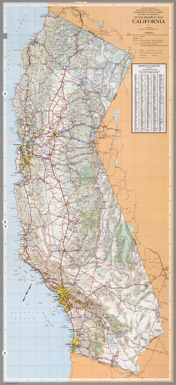 State Highway Map California 1967 David Rumsey Historical Map
