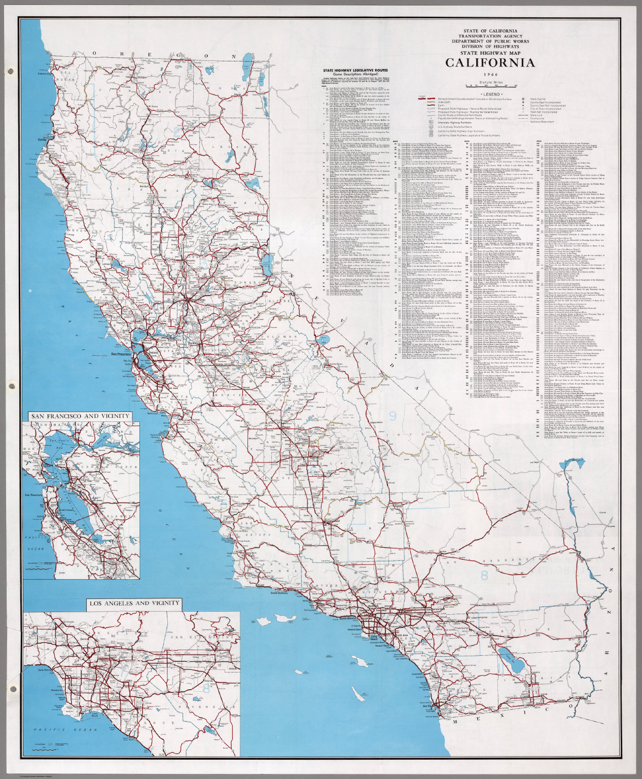 State Highway Map, California, 1966. - David Rumsey Historical Map ...