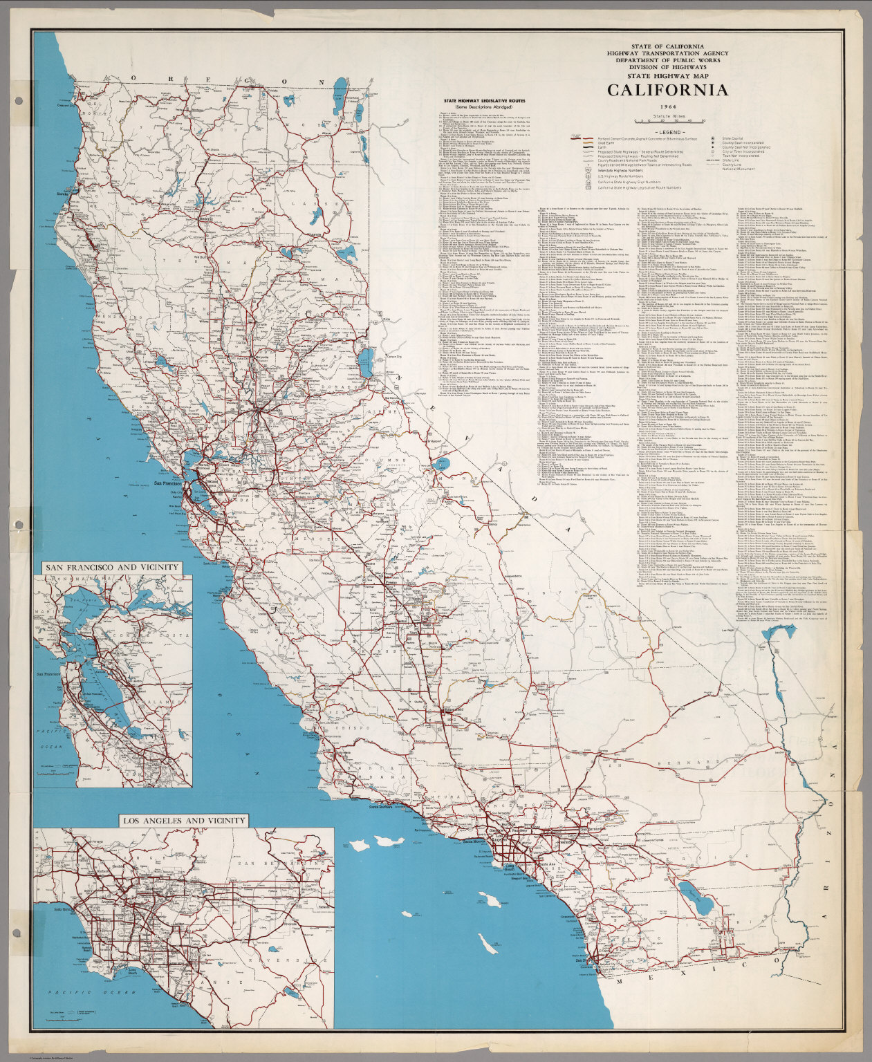 State Highway Map, California, 1964.