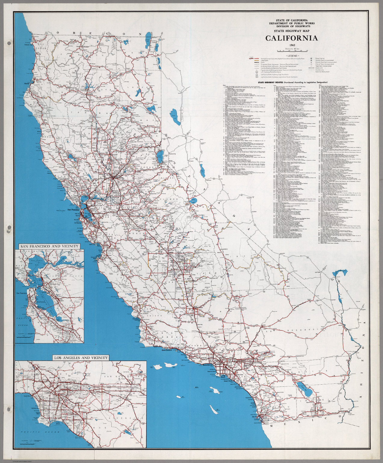 State Highway Map, California, 1962.
