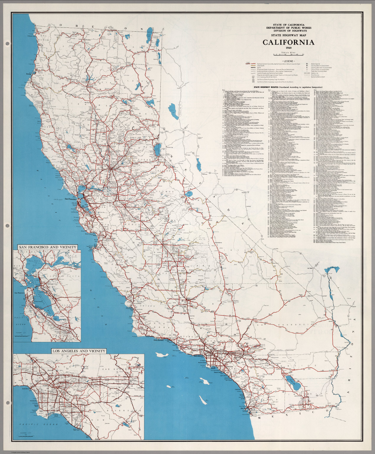 State Highway Map California 1960 David Rumsey Historical Map