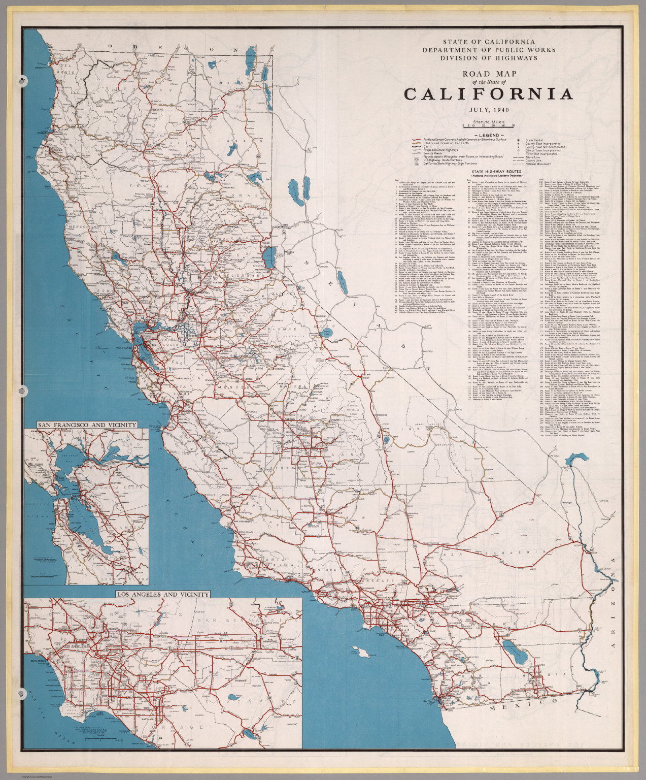 Road Map Of The State Of California July David Rumsey - California road map