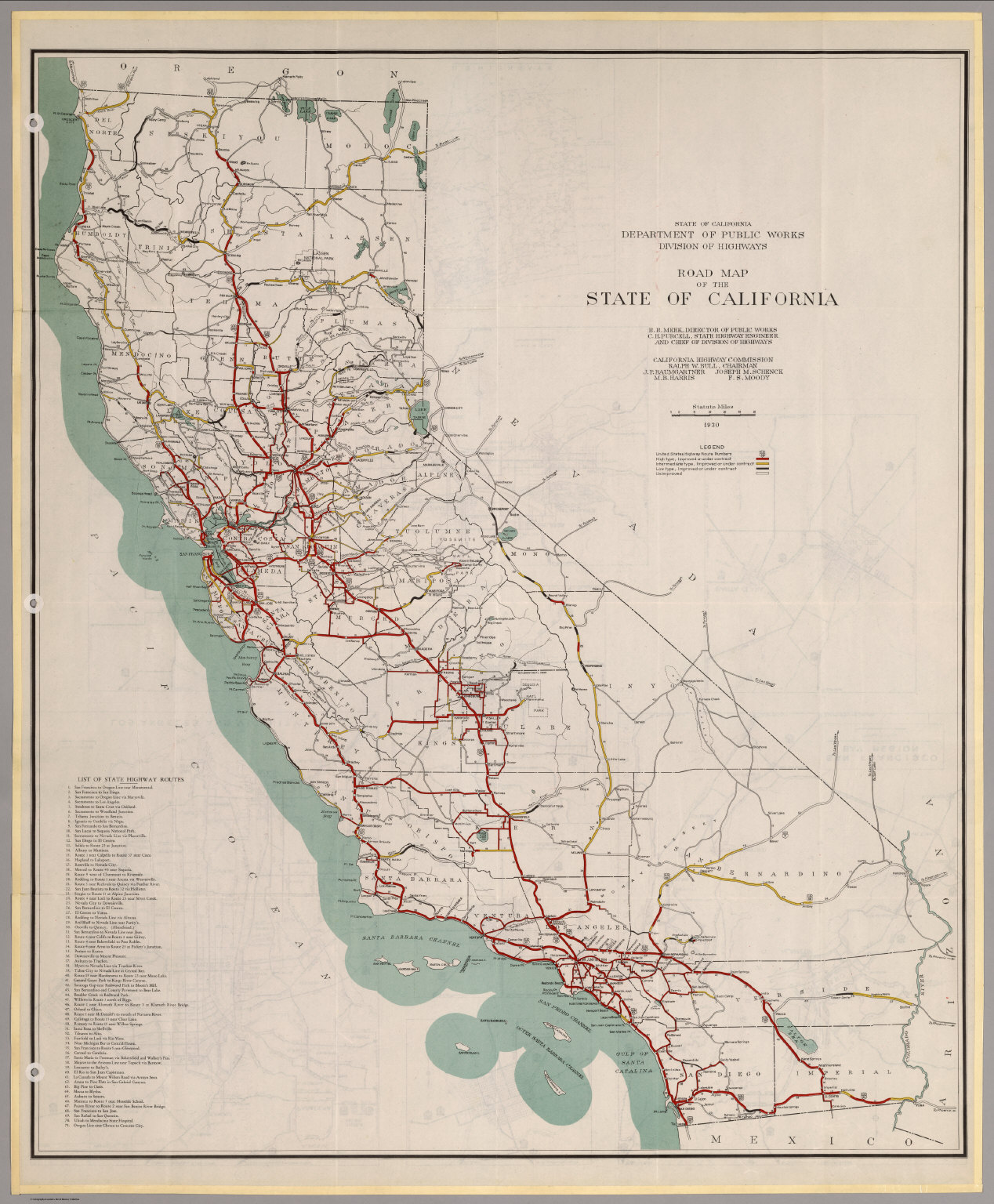 Road Map Of The State Of California David Rumsey - California road map