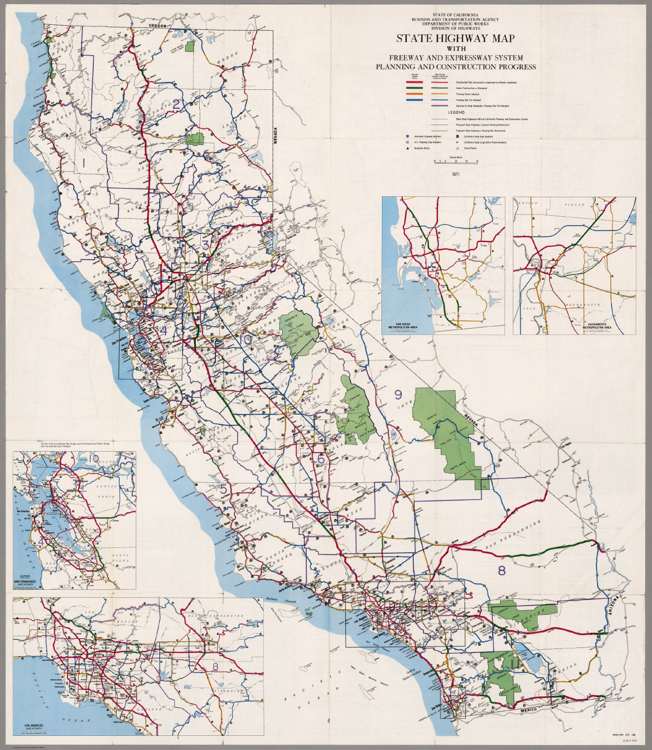 California Freeway and Expressway System, January 1971.
