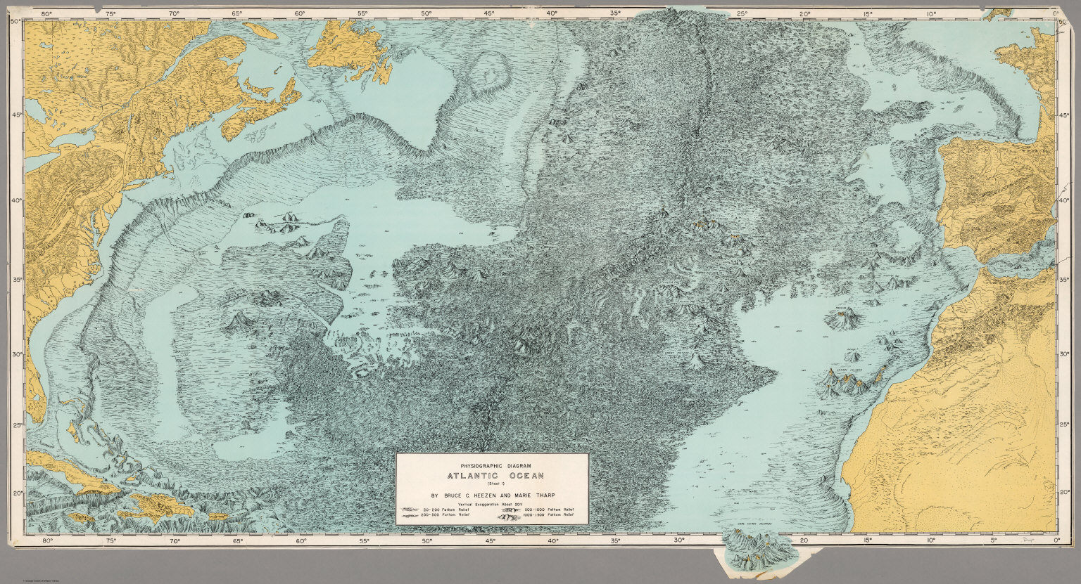 physiographic diagram, atlantic ocean (sheet 1) david rumsey ocean diorama physiographic diagram, atlantic ocean (sheet 1)