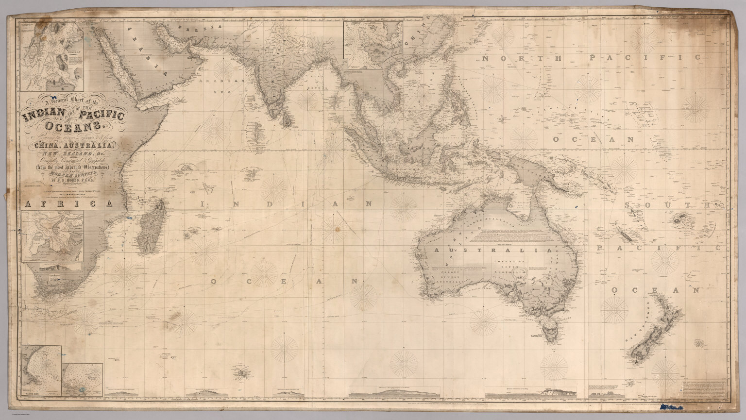Chart of the Indian and Part of the Pacific Oceans