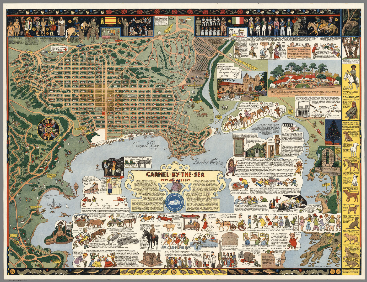 CarmelbytheSea Past and present David Rumsey Historical Map