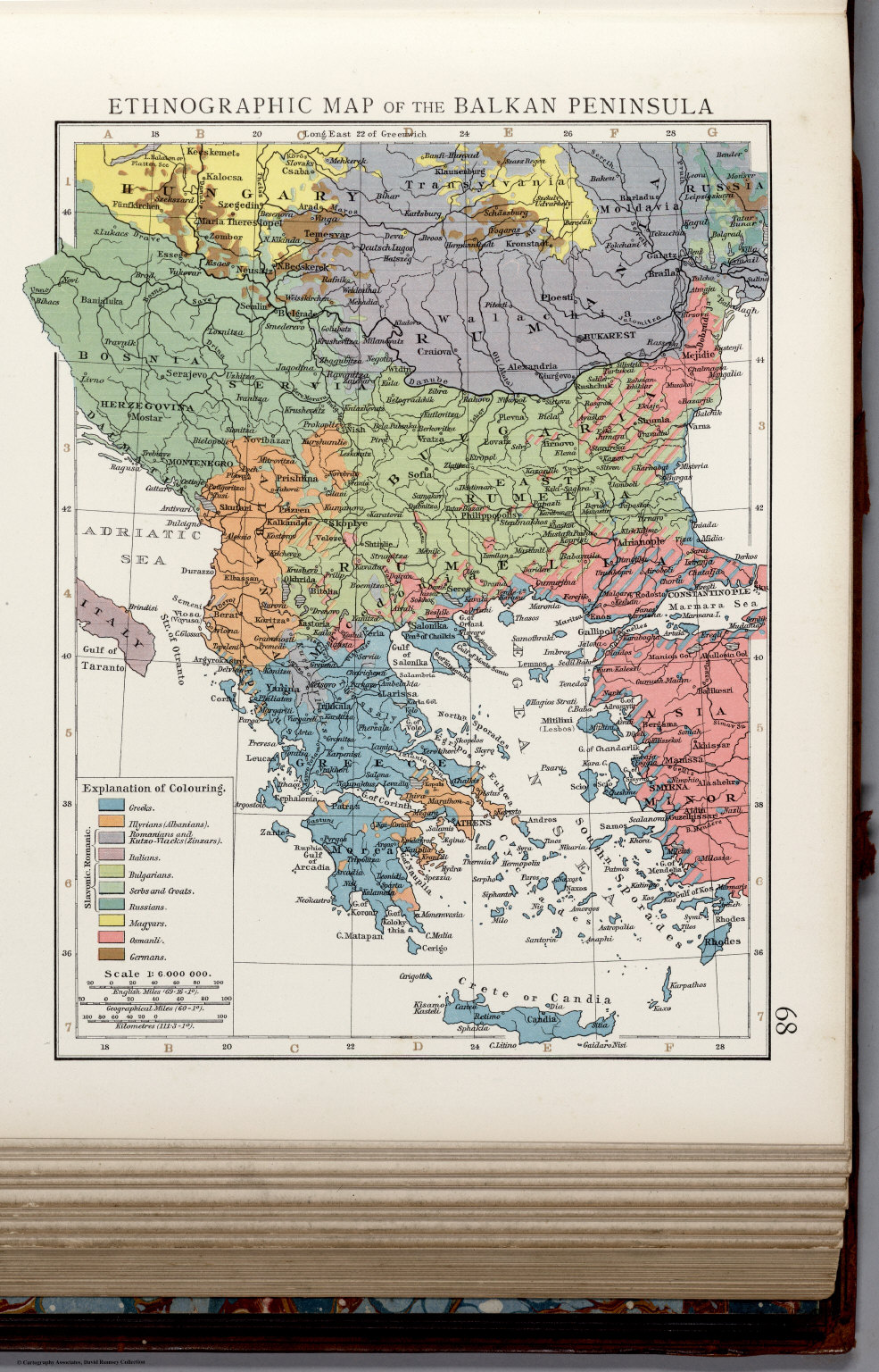 Ethnographic map of the Balkan Peninsula. - David Rumsey Historical ...