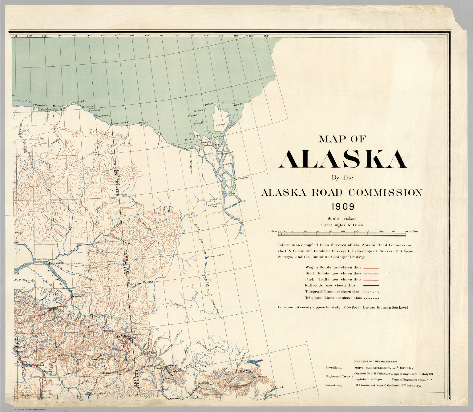 Map of Alaska By the Alaska Road Commission Upper right sheet