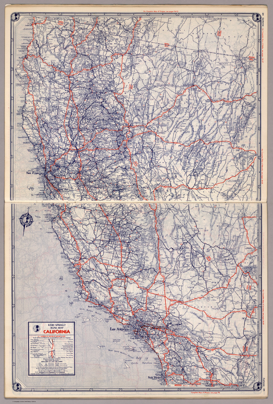 Rand McNally Road map: California - David Rumsey Historical ... on illinois county map, illinois dot construction map, illinois interstate highway map, illinois airports map, illinois tollway map 294, illinois tolls rates map, illinois road atlas, illinois us 66 maps,