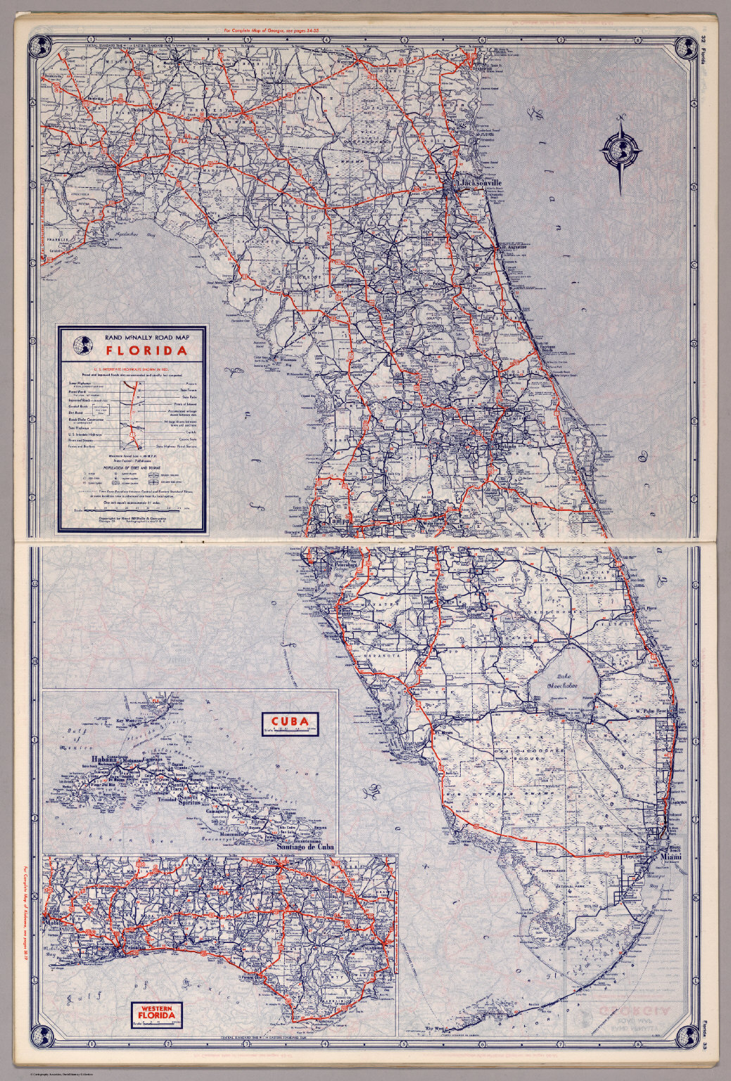 Map Of Florida And Cuba.Rand Mcnally Road Map Florida David Rumsey Historical Map Collection
