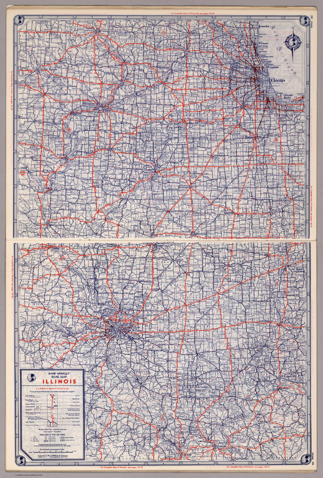 Rand mcnally road map illinois david rumsey historical map collection rand mcnally road map illinois gumiabroncs Image collections