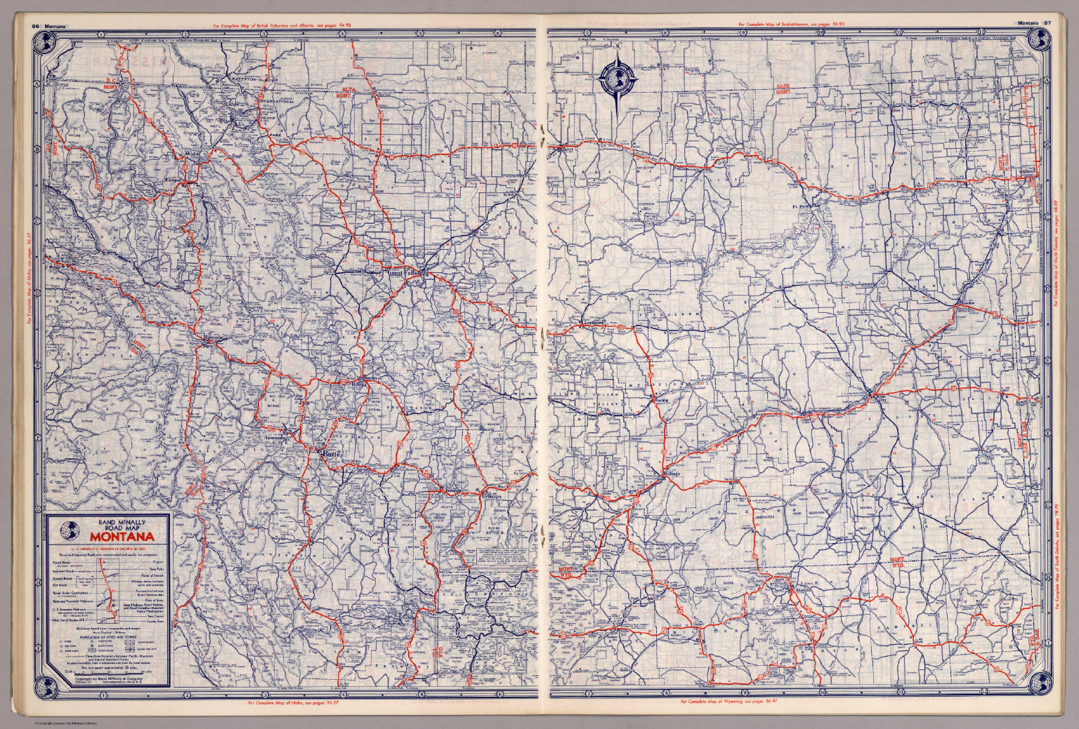 Rand McNally Road map: Montana - David Rumsey Historical Map Collection