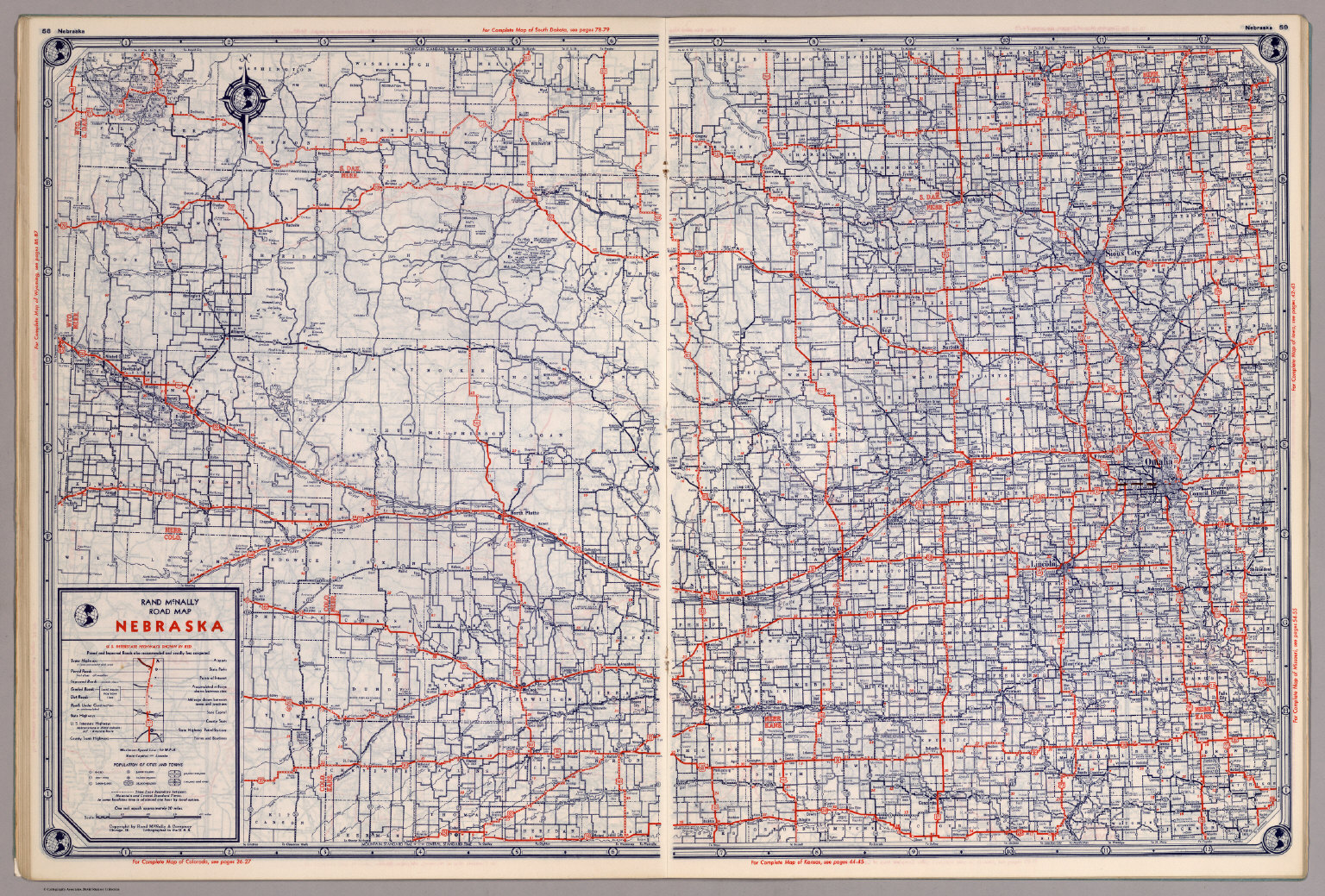 Rand McNally Road map Nebraska David Rumsey Historical Map Collection