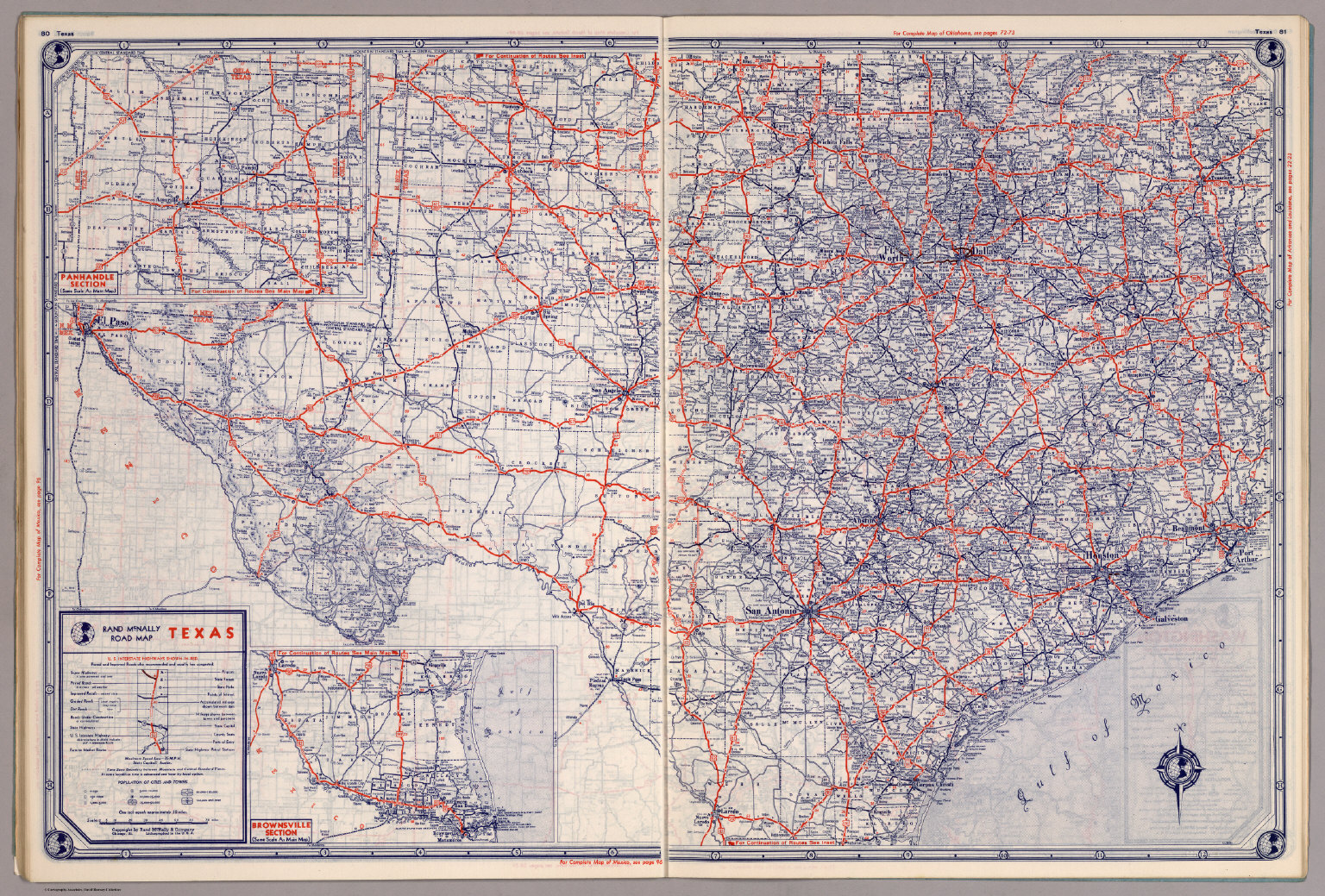 Rand McNally Road map: Texas - David Rumsey Historical Map ... on illinois county map, illinois dot construction map, illinois interstate highway map, illinois airports map, illinois tollway map 294, illinois tolls rates map, illinois road atlas, illinois us 66 maps,