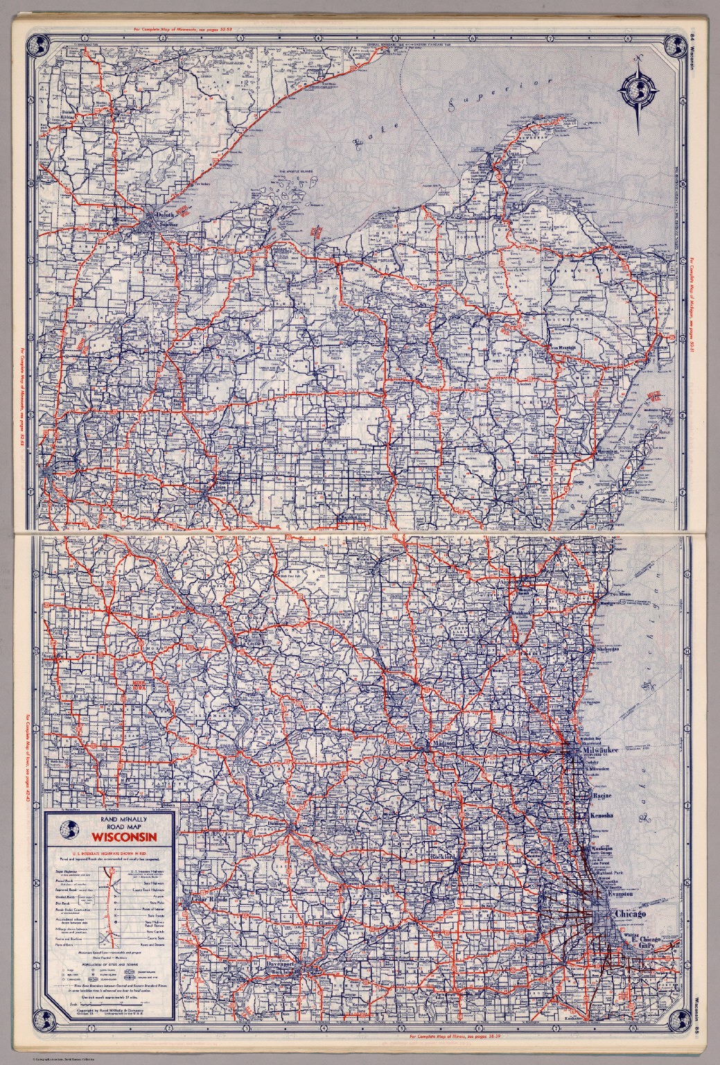rand mcnally road map wisconsin