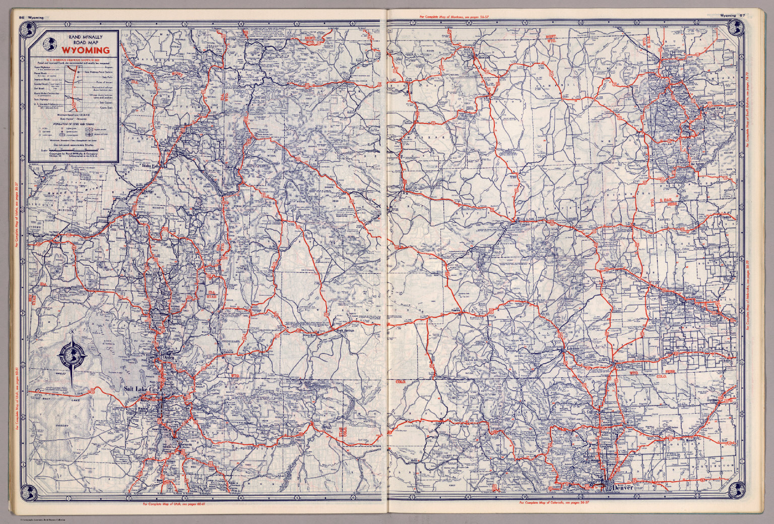 Rand McNally Road map: Wyoming - David Rumsey Historical Map Collection