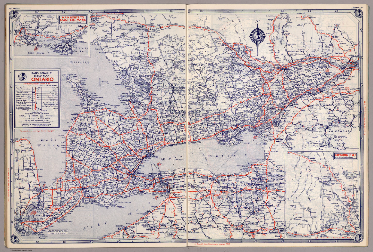 Rand McNally Road map Ontario David Rumsey Historical Map Collection