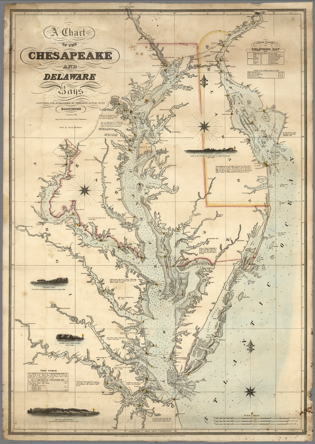 A chart of the chesapeake and delaware bays david rumsey a chart of the chesapeake and delaware bays nvjuhfo Gallery