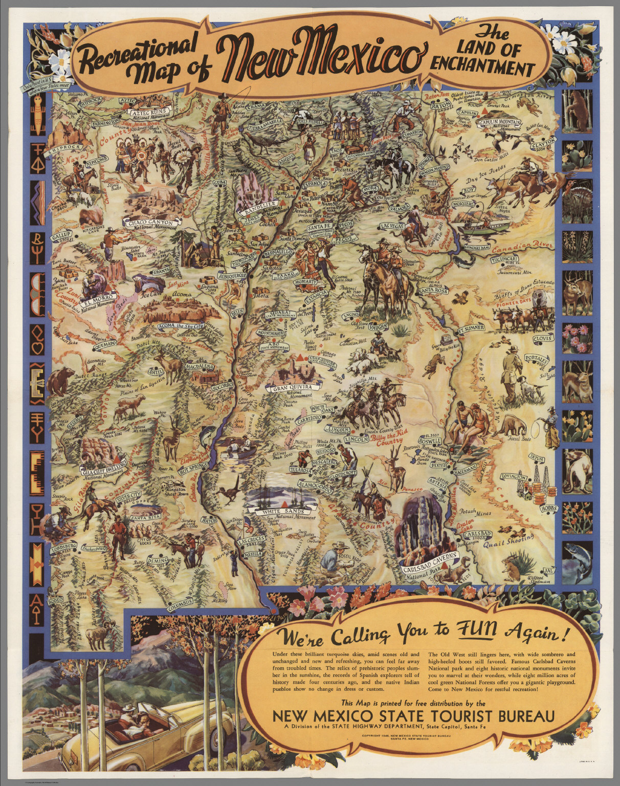 Recreational map of New Mexico : the land of enchantment - David ...