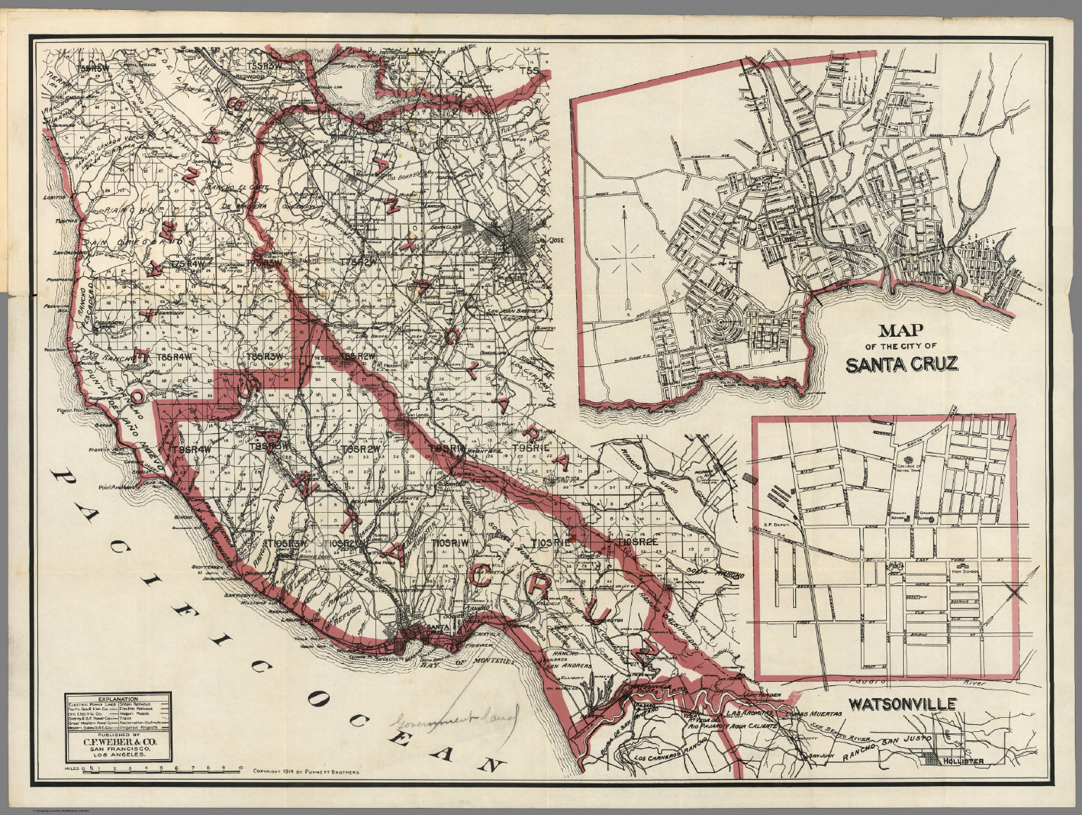 Santa Cruz California Map.Weber S Map Of Santa Cruz County California David Rumsey
