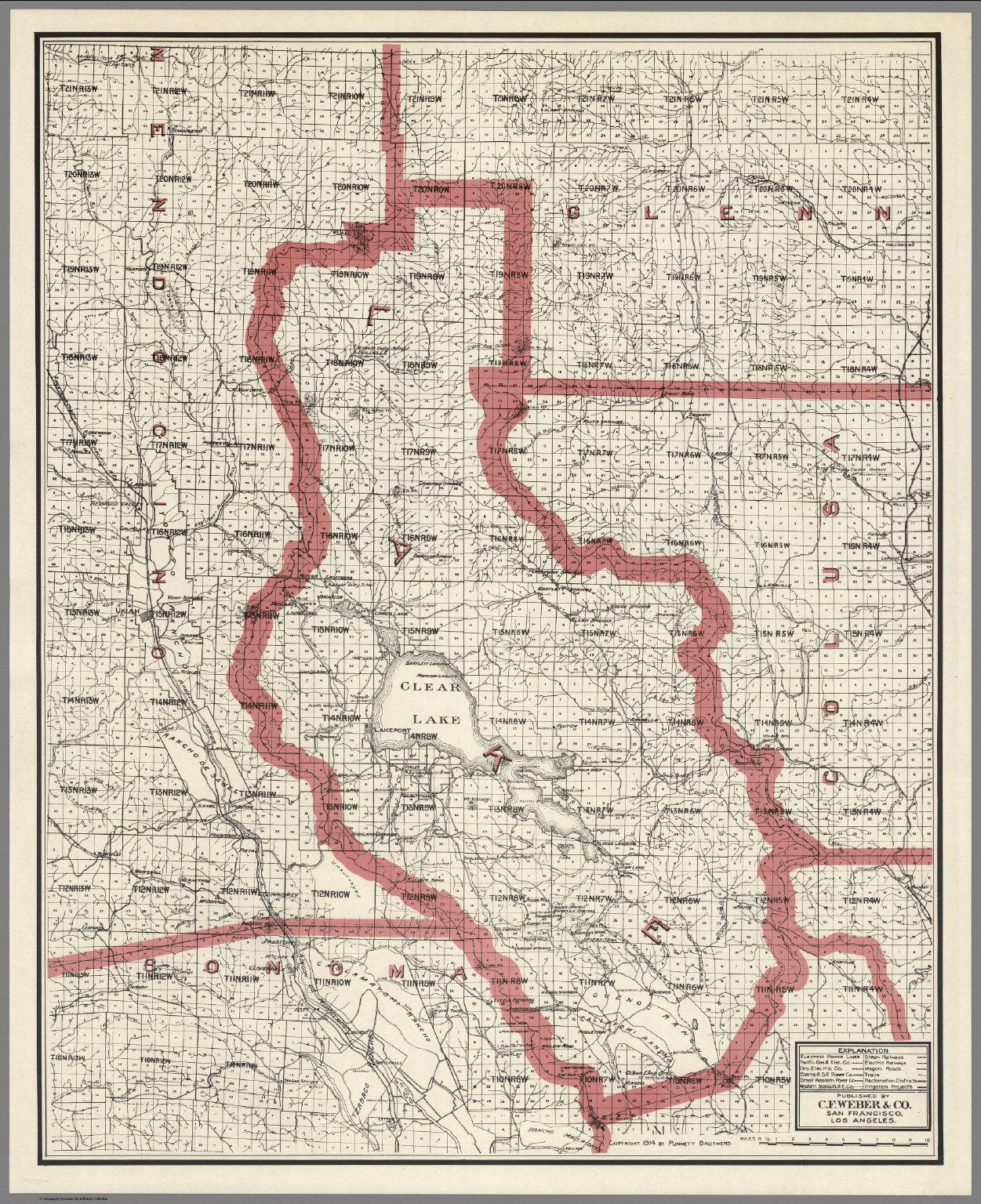 Lake County Colorado Map.Weber S Map Of Lake County California David Rumsey Historical Map