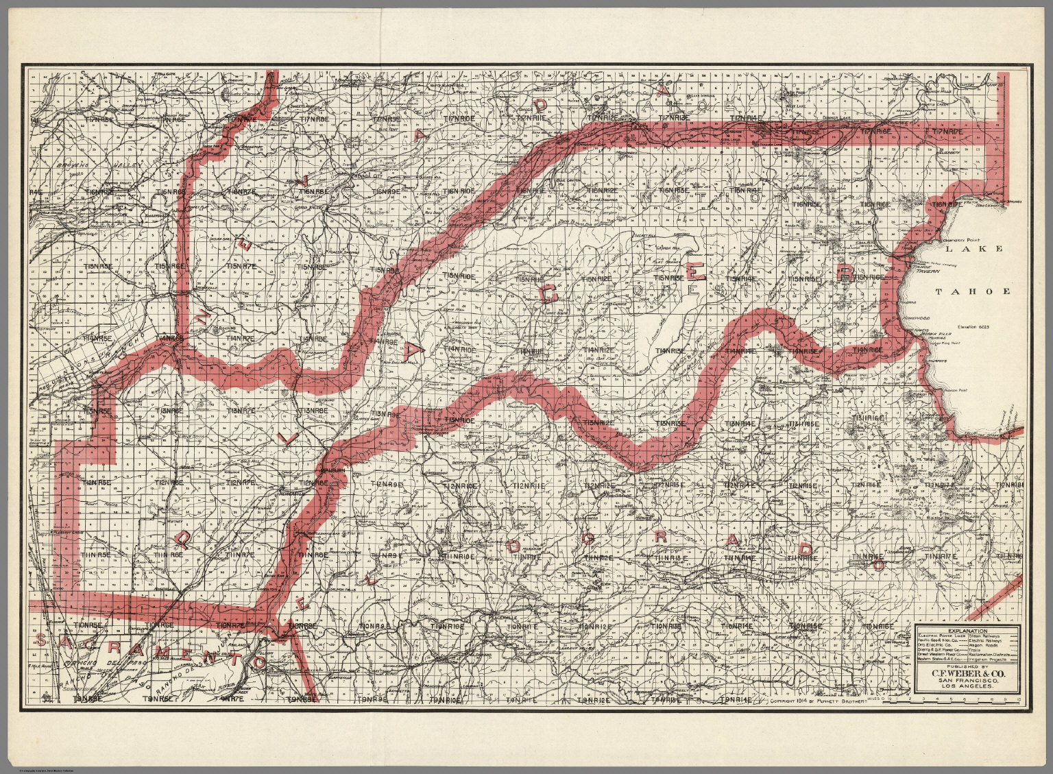 Weber\'s Map of Placer County, California - David Rumsey Historical ...