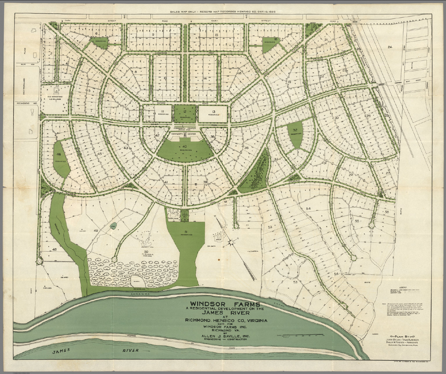 Windsor Farms A Residential Development On The James River At
