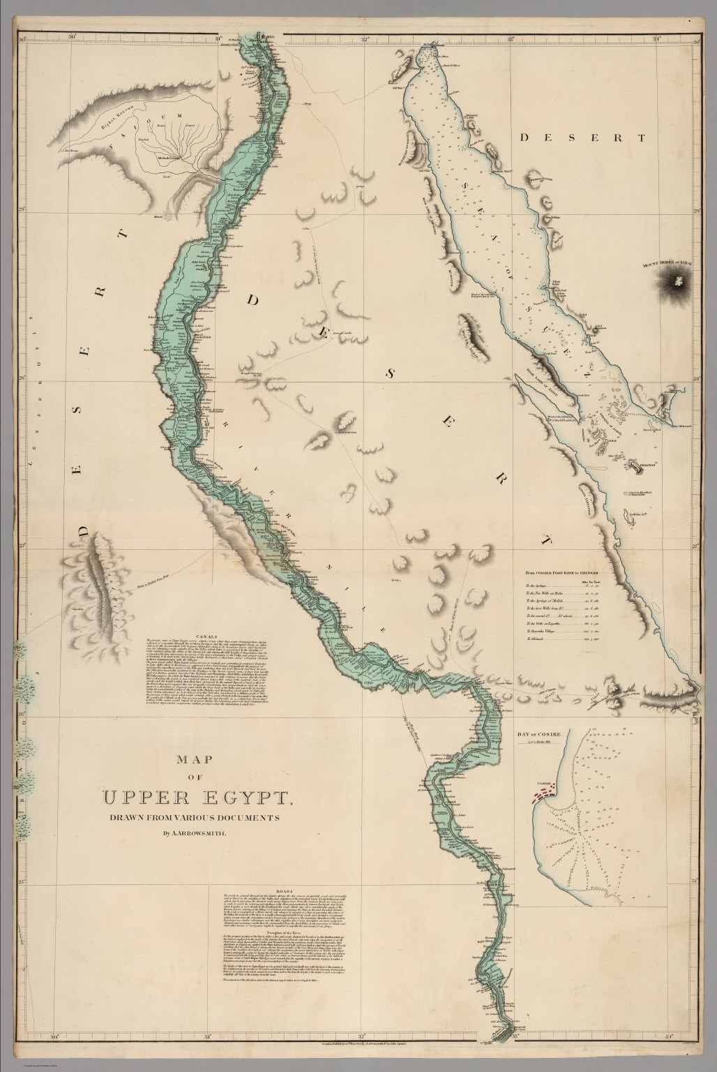Map Of Upper Egypt Drawn From Various Documents David Rumsey