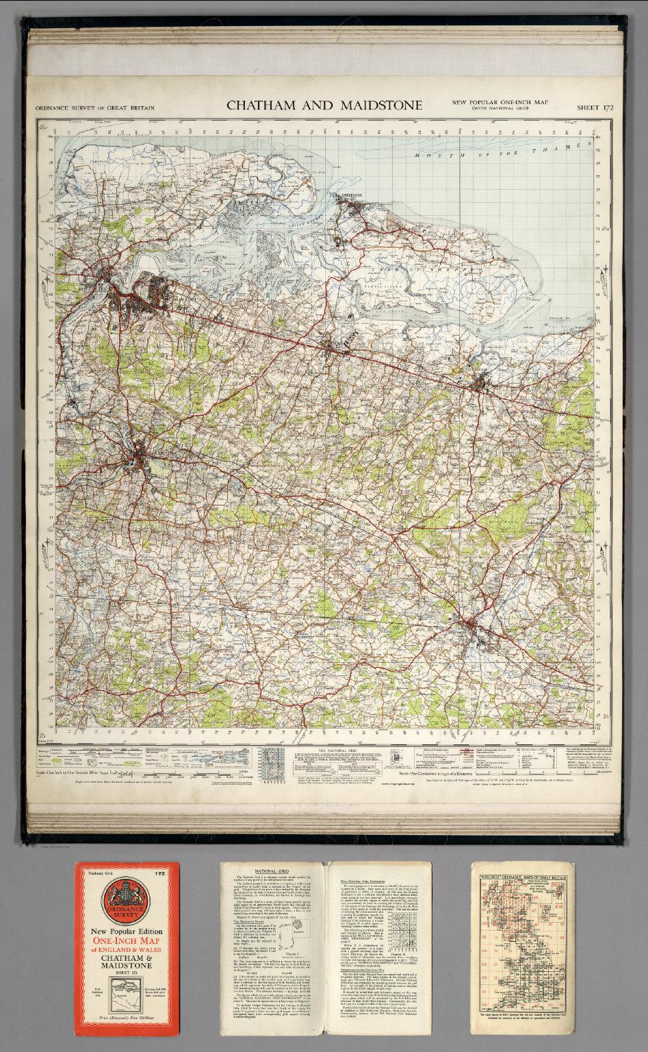 Chatham England Map.Sheet 172 Chatham And Maidstone David Rumsey Historical Map