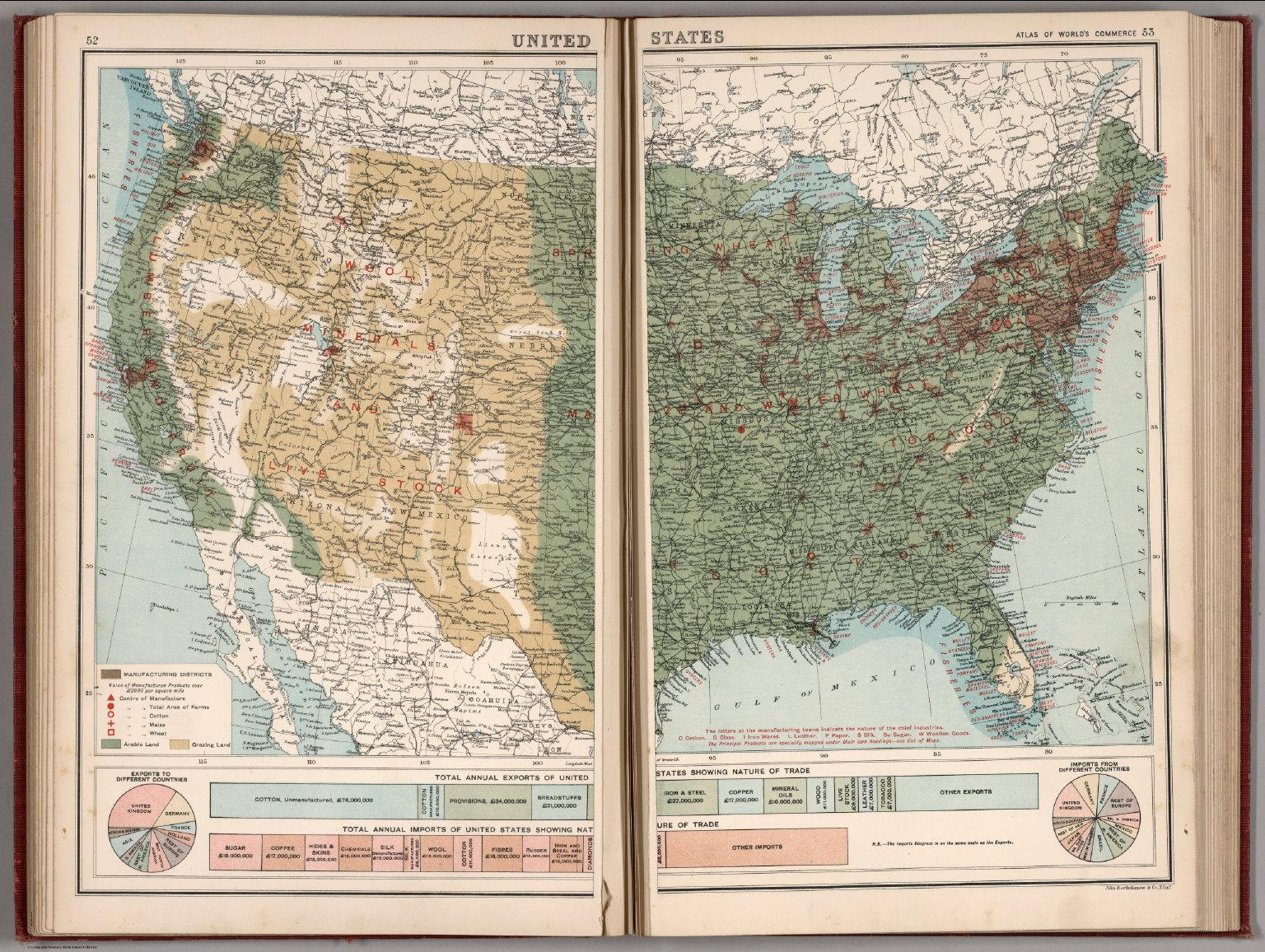 United States. (Base Map includes Vegetation). - David Rumsey ...