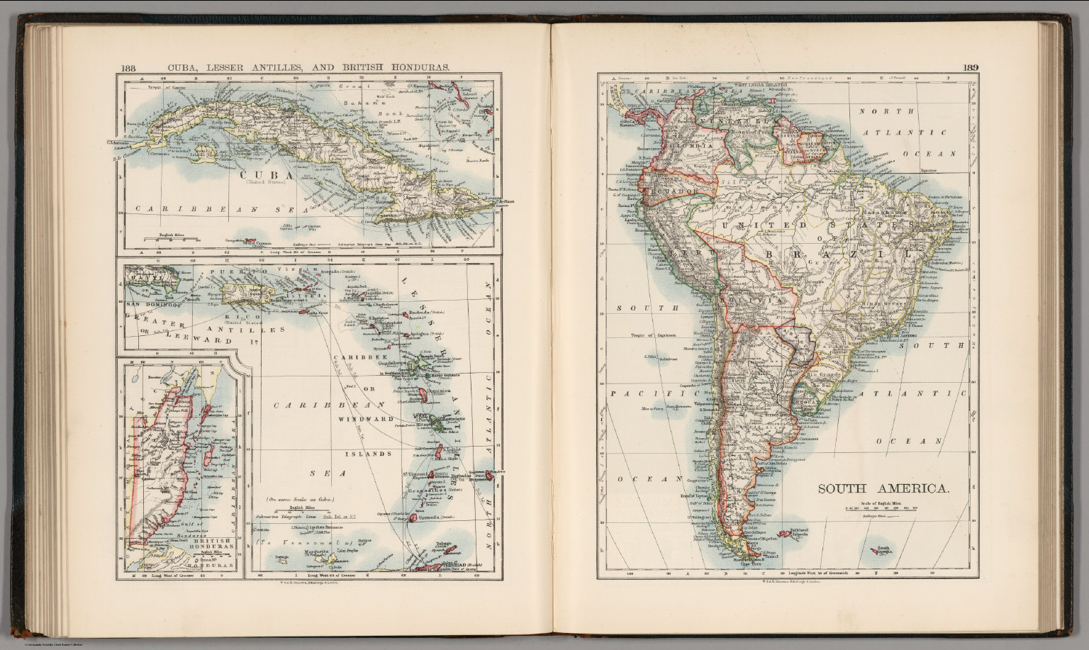 Cuba lesser antilles and british honduras south america cuba lesser antilles and british honduras south america gumiabroncs Gallery