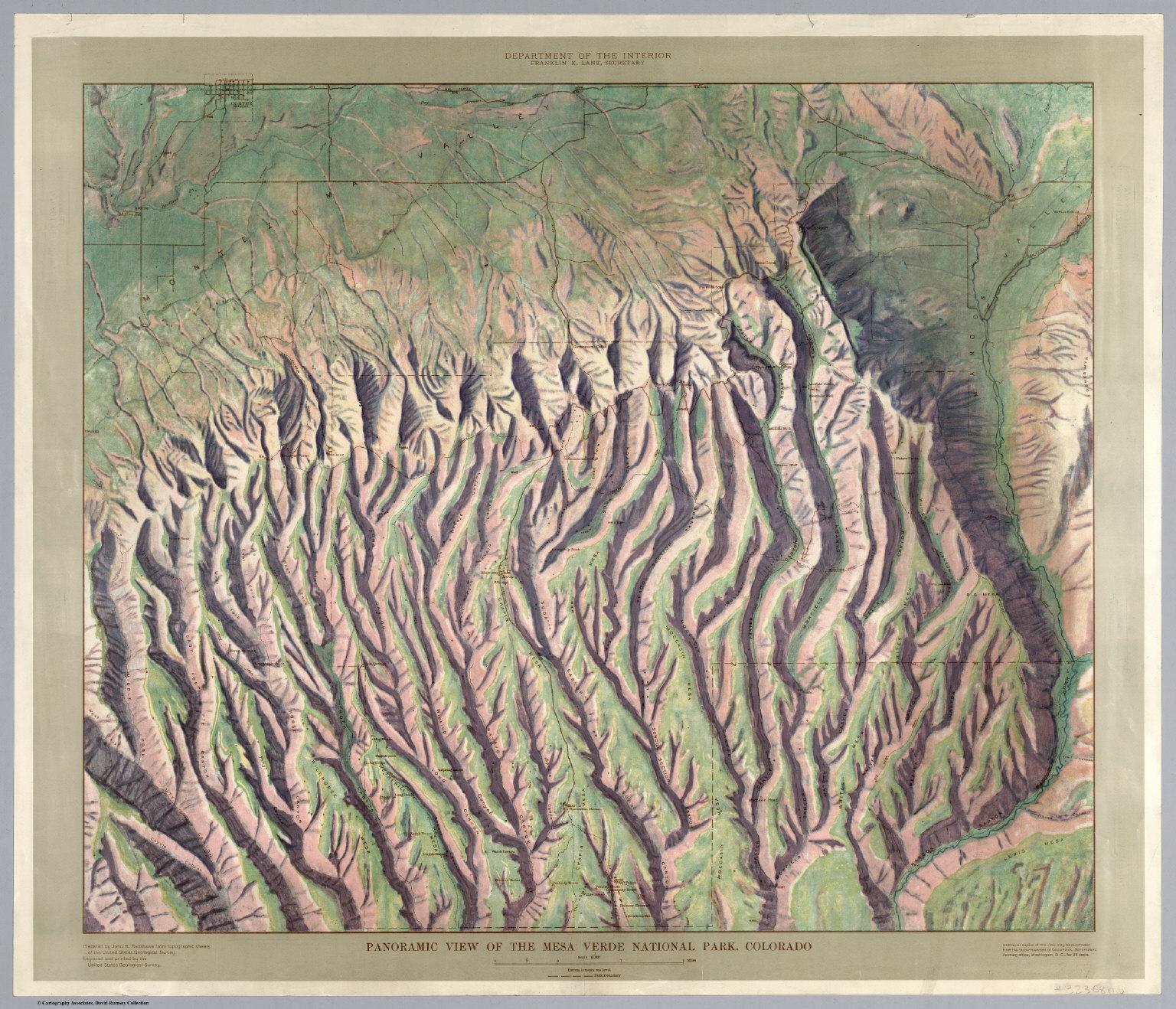 Panoramic View of the Mesa Verde National Park Colorado David