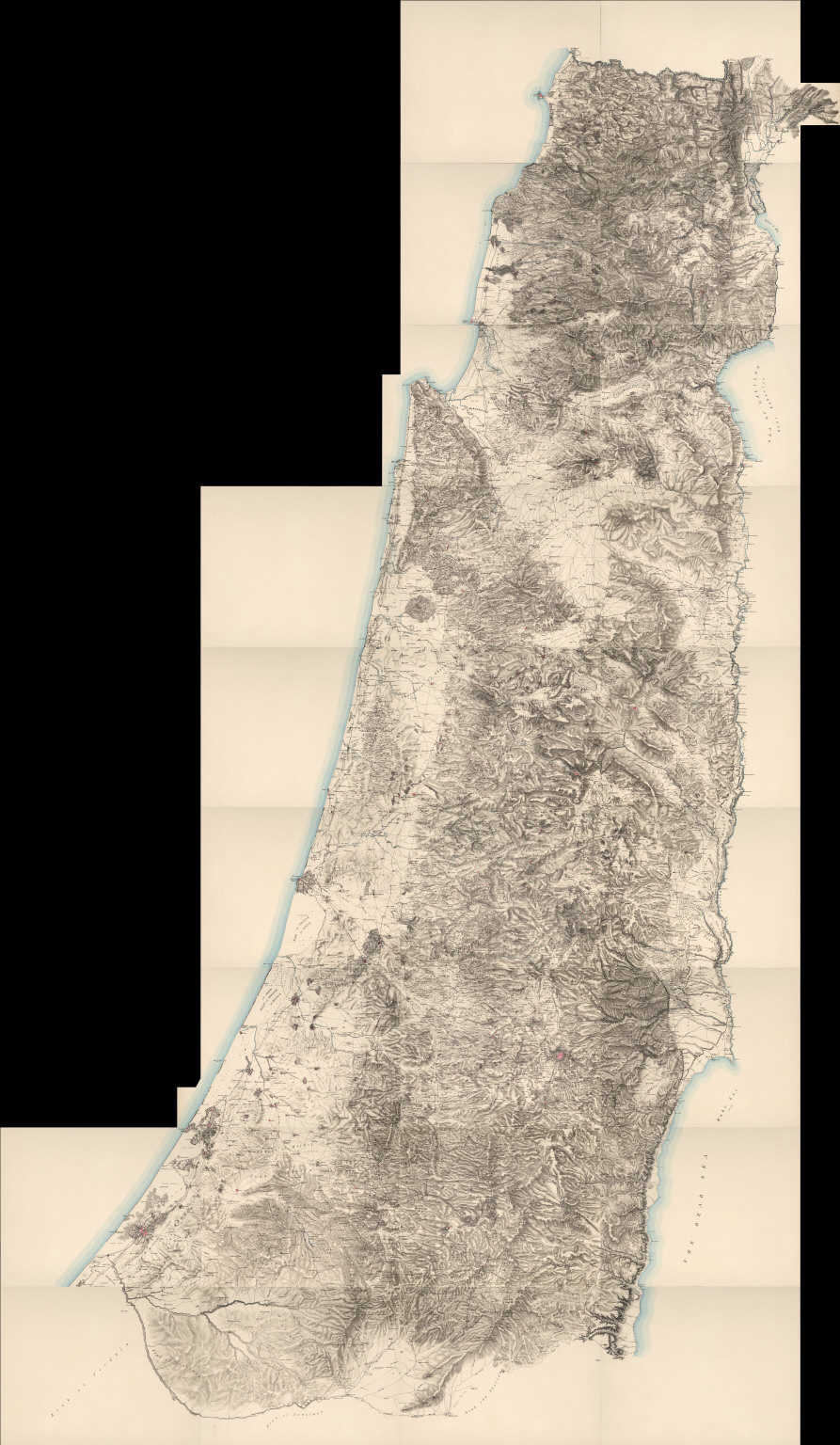 Composite: Map of Western Palestine in 26 Sheets