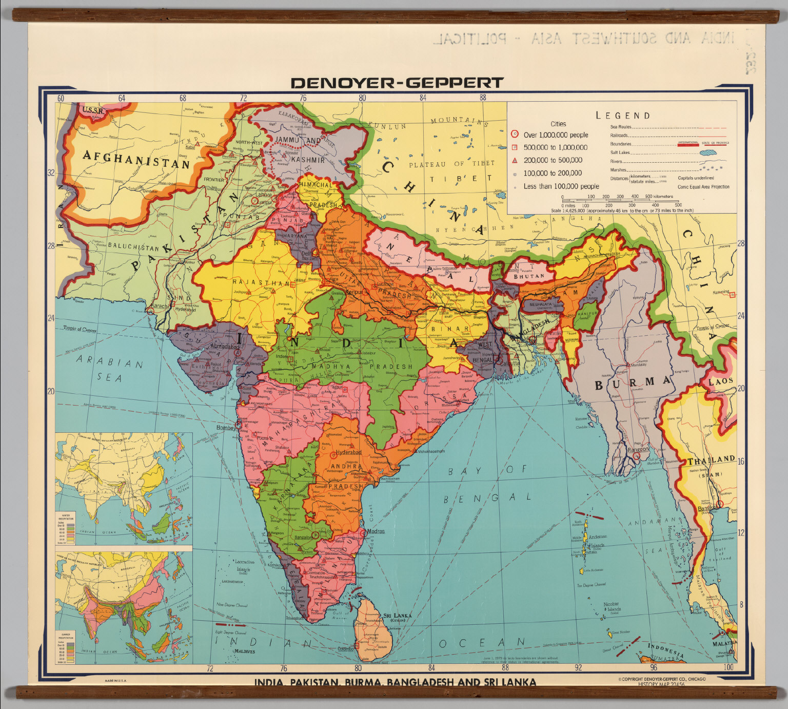 India and Southwest Asia -- Political. - David Rumsey Historical Map ...