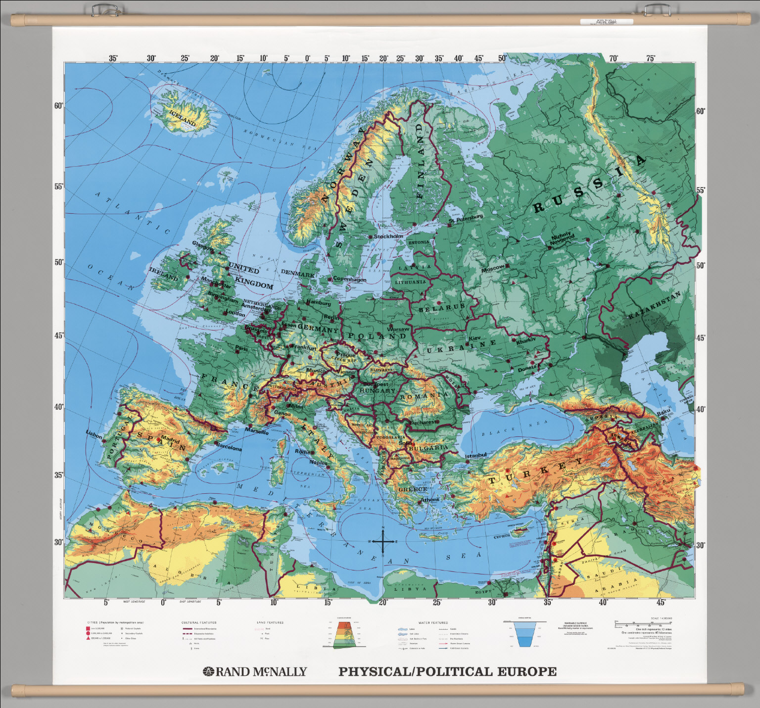 Europe Physical Political David Rumsey Historical Map Collection