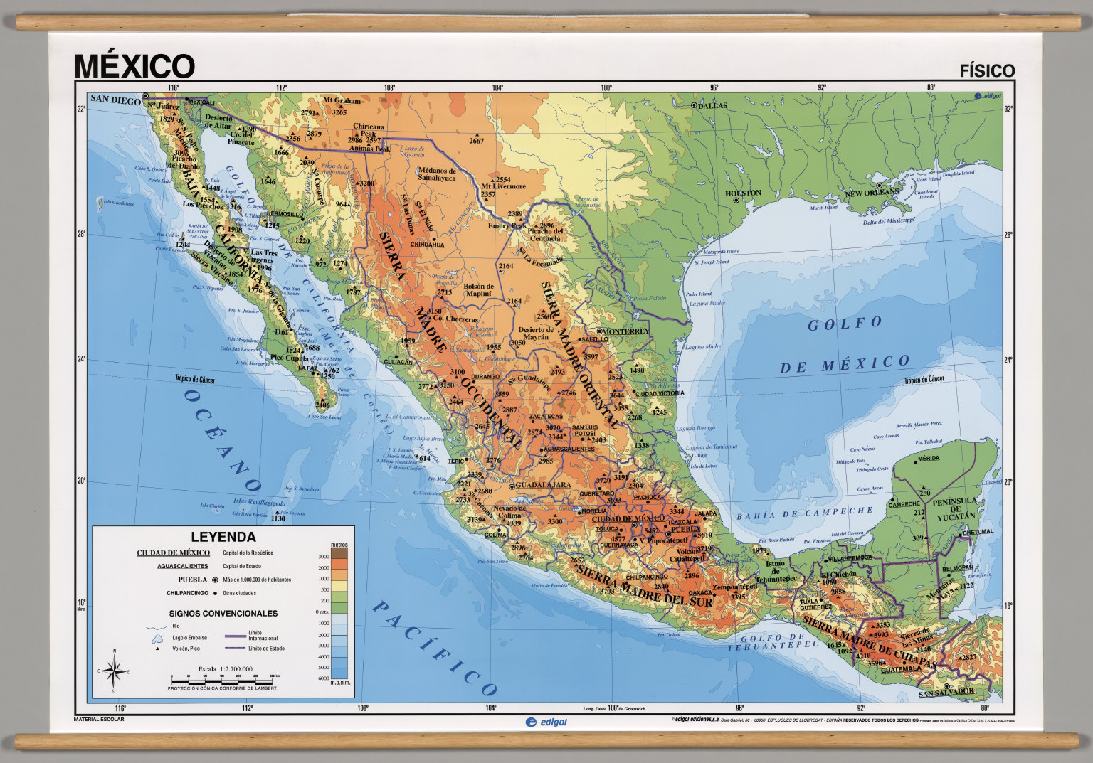 Mexico -- Physical. - David Rumsey Historical Map Collection