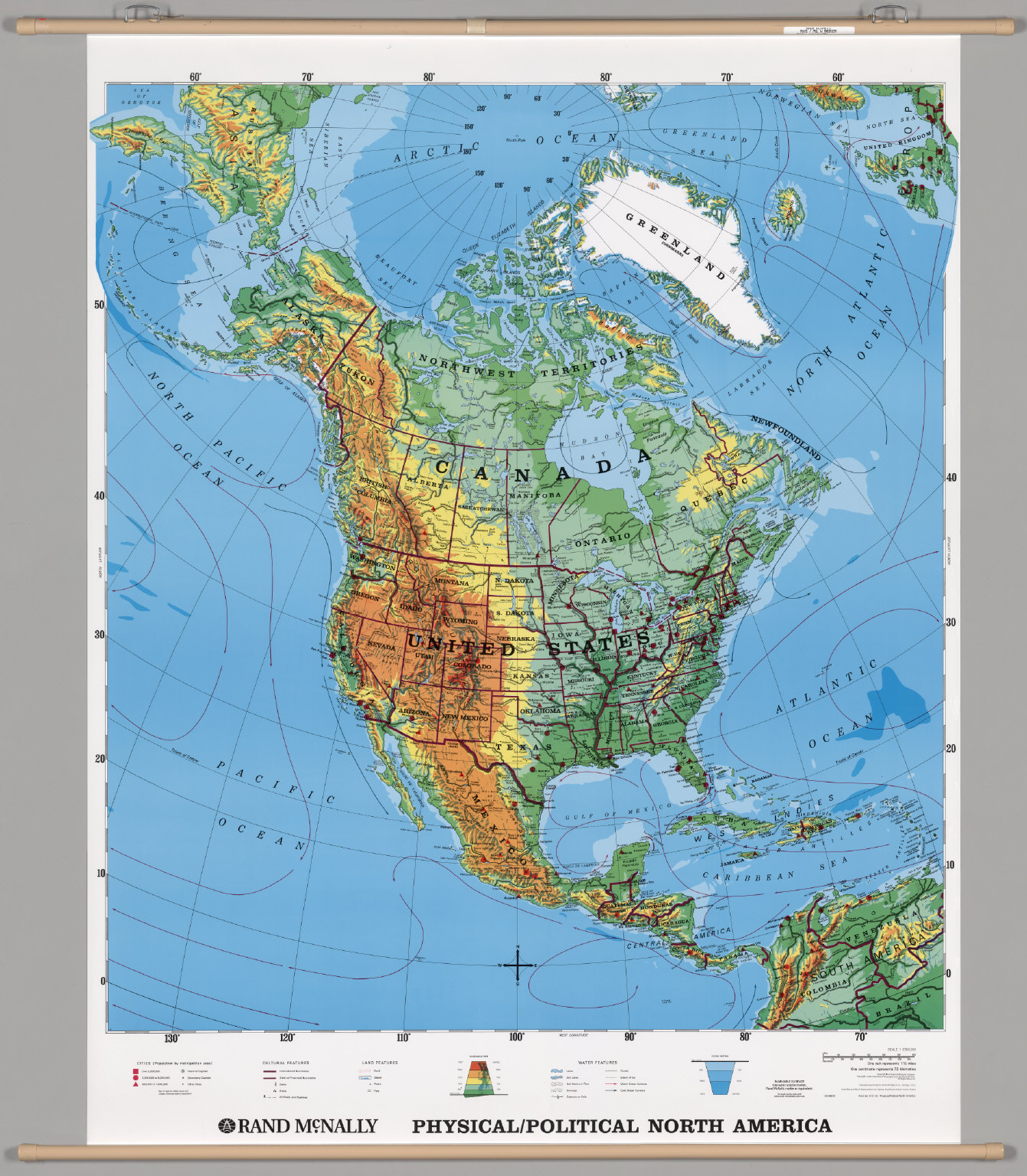North America -- Physical-Political. - David Rumsey Historical Map ...