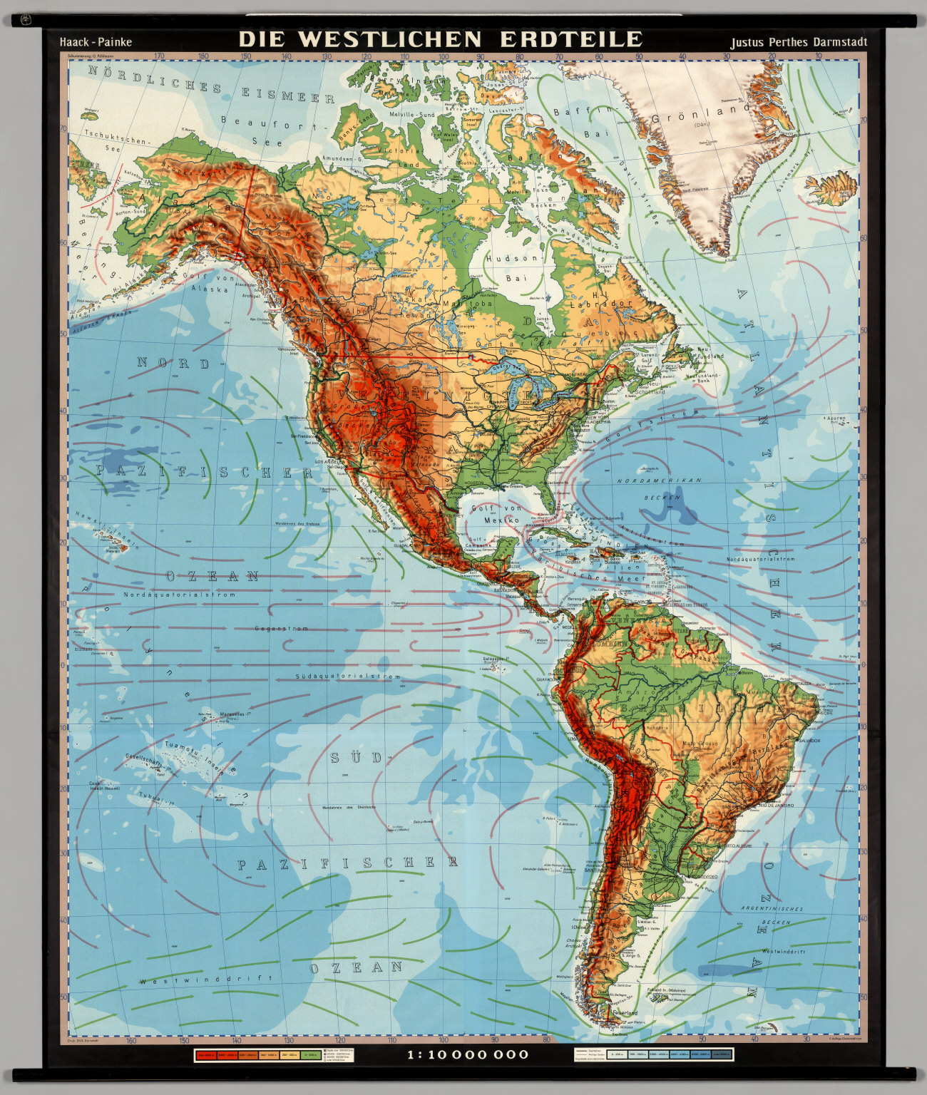 Western Hemisphere Physical David Rumsey Historical Map Collection
