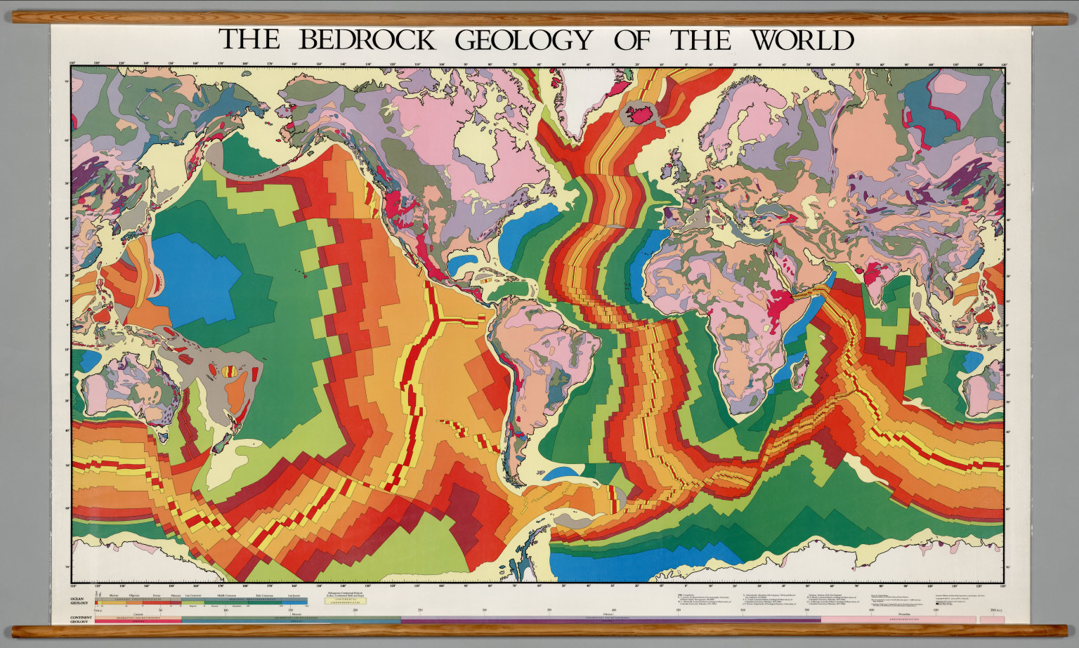 World Geology Oceanic And Continental Tectonics David Rumsey