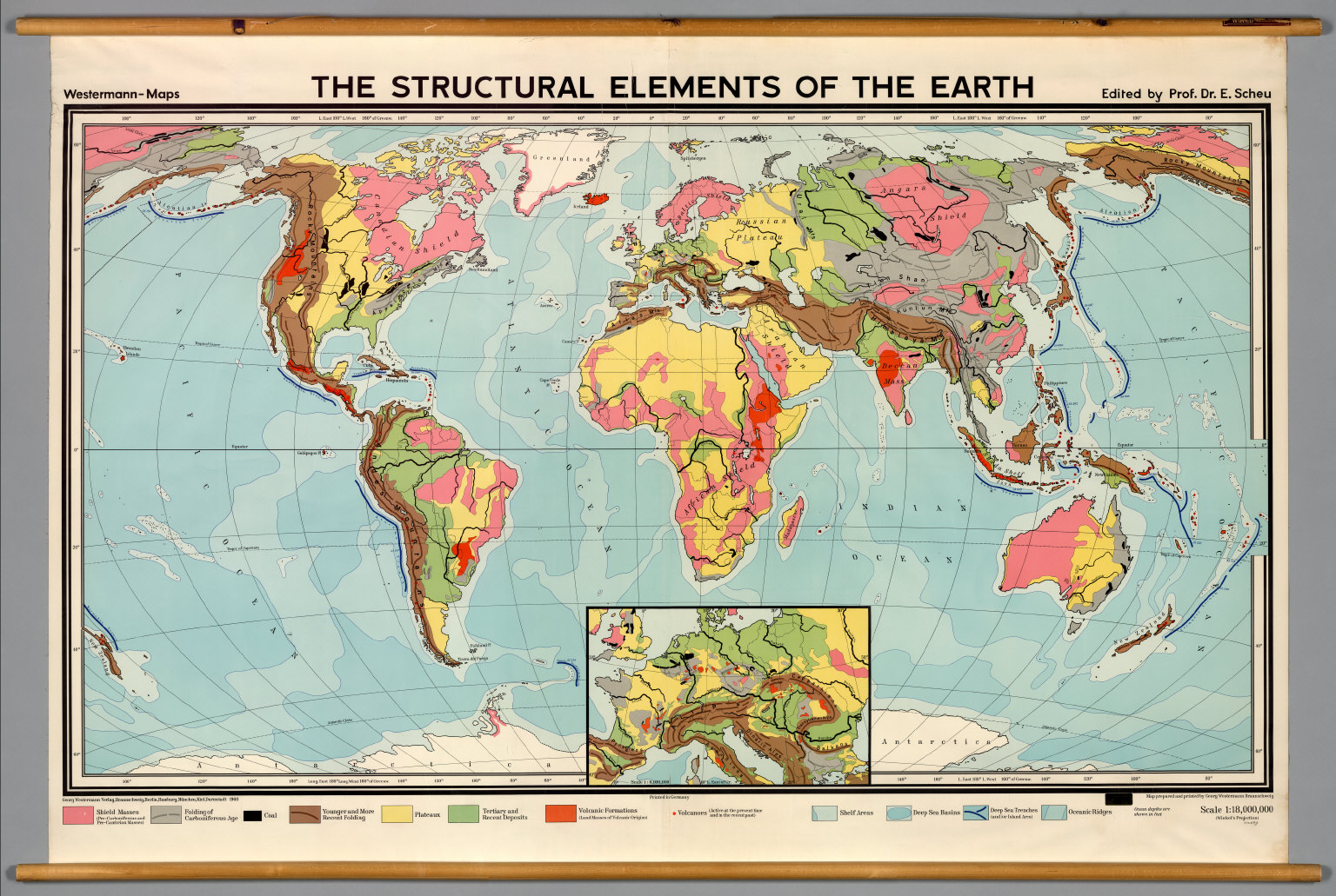 World Geology Structure David Rumsey Historical Map Collection